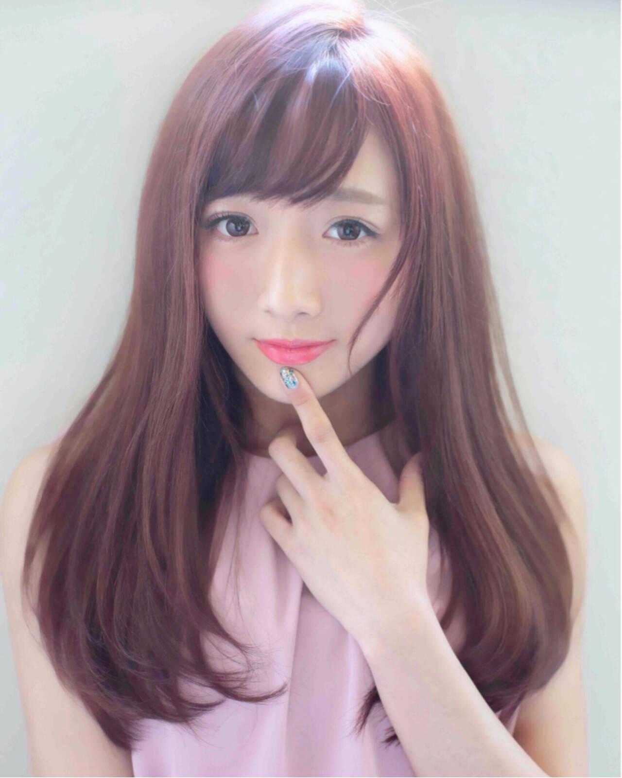 ふわふわ ピンク ロング ガーリーヘアスタイルや髪型の写真・画像