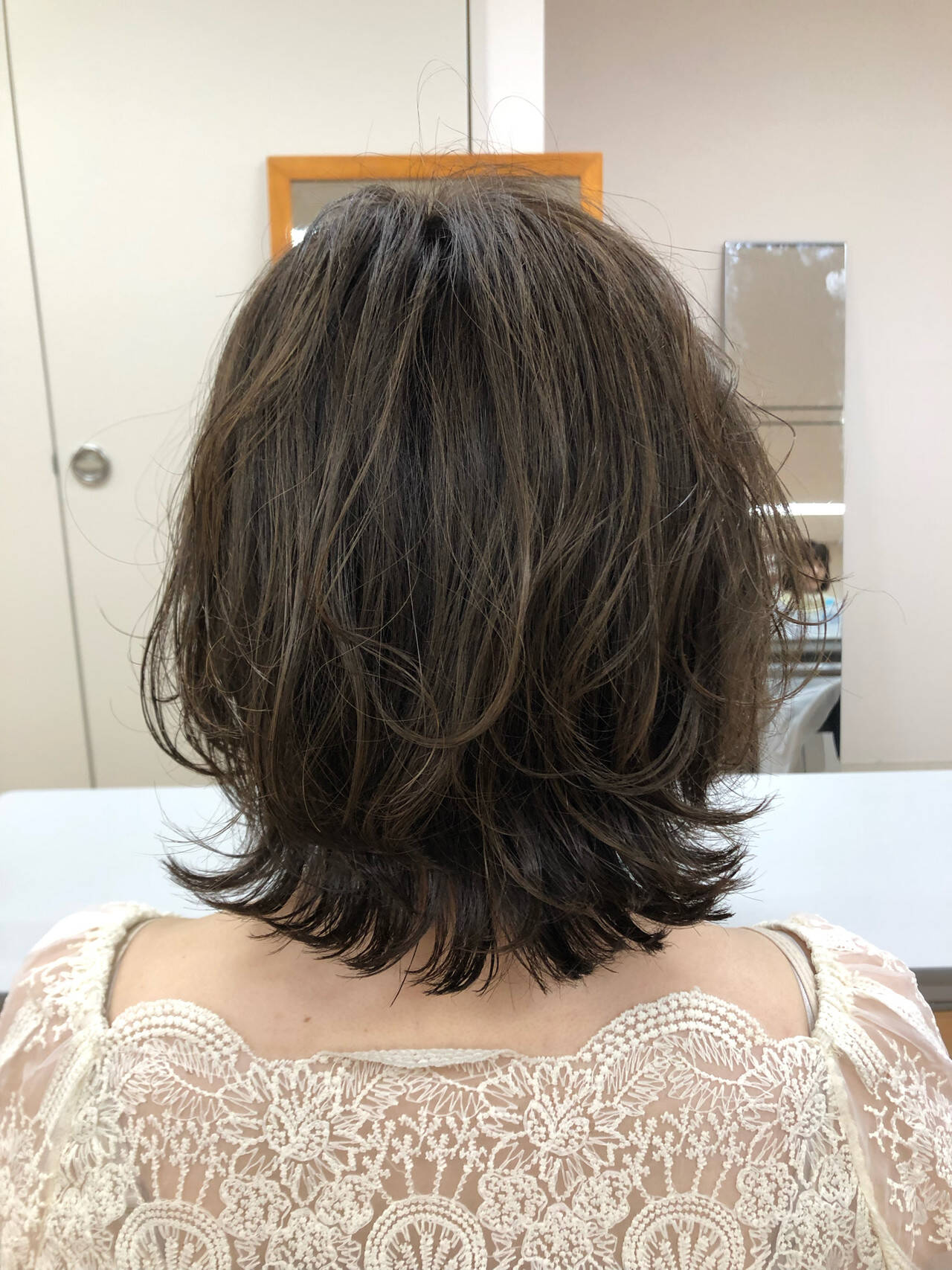 デート パーマ ヘアアレンジ ボブヘアスタイルや髪型の写真・画像