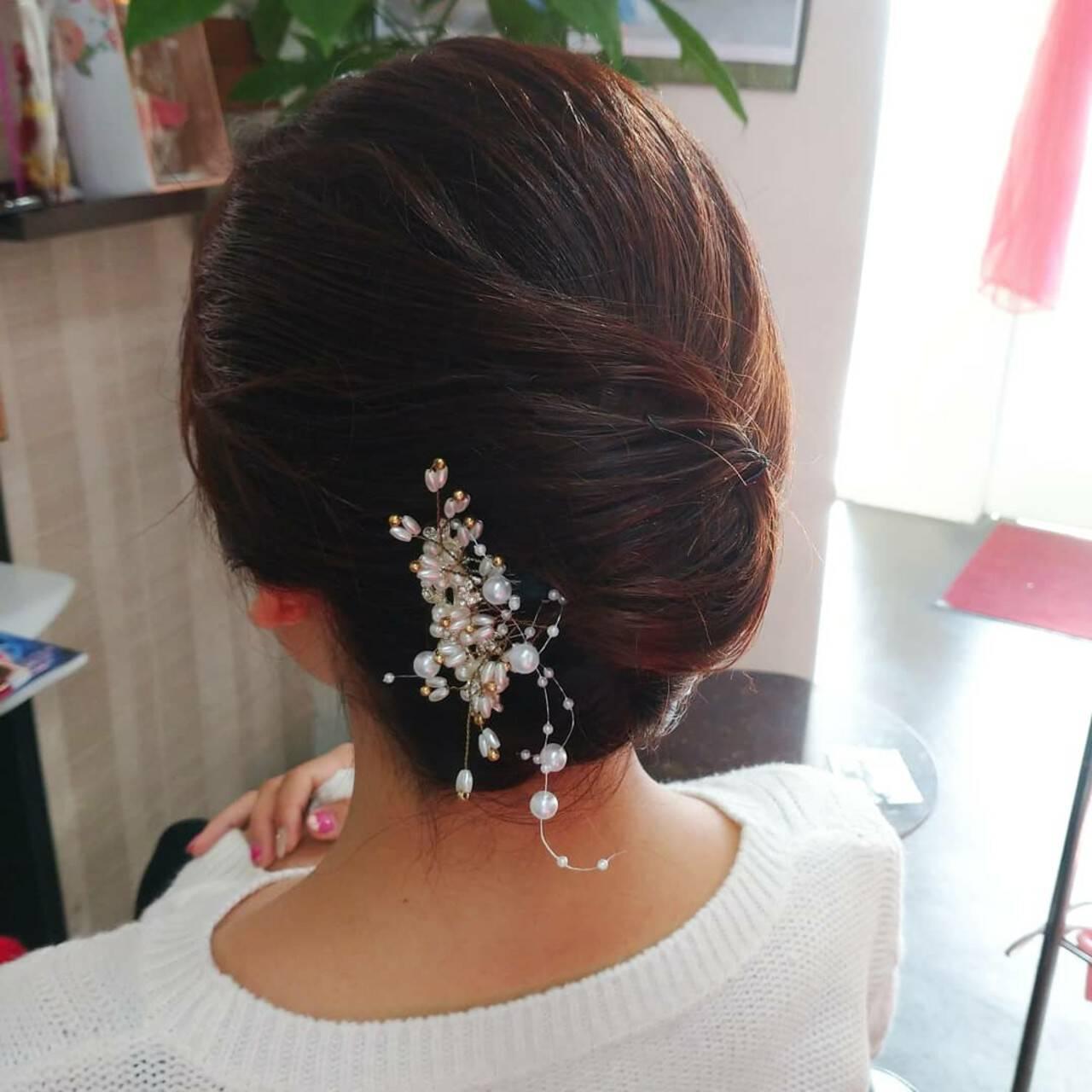 和装ヘア エレガント 和装髪型 和装ヘアスタイルや髪型の写真・画像