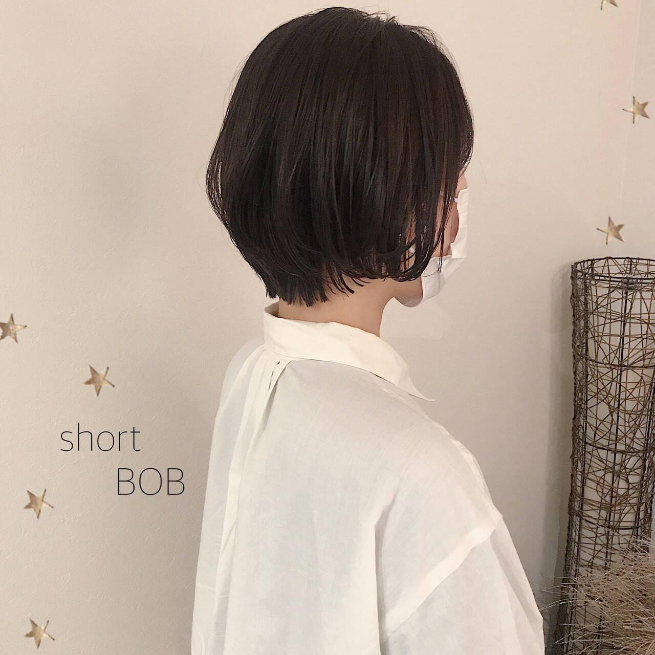 ショートヘア ショートボブ 大人可愛い ショートヘアスタイルや髪型の写真・画像