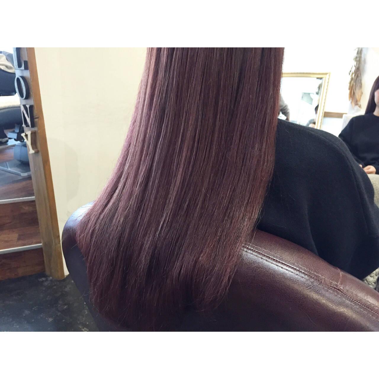 ストリート ラベンダーピンク ヌーディーベージュ ピンクヘアスタイルや髪型の写真・画像