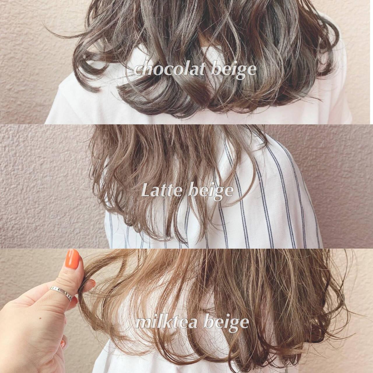ブリーチなし 大人可愛い フェミニン 透明感カラーヘアスタイルや髪型の写真・画像