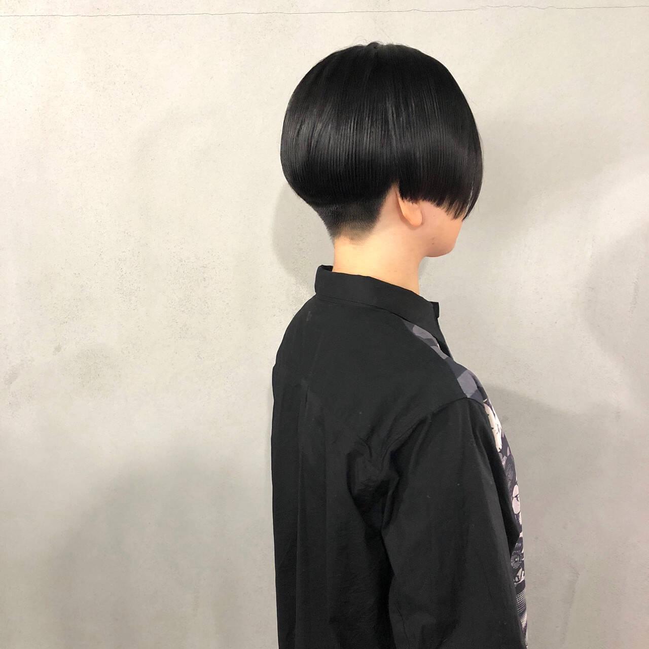 ショート 刈り上げショート ベリーショート モードヘアスタイルや髪型の写真・画像