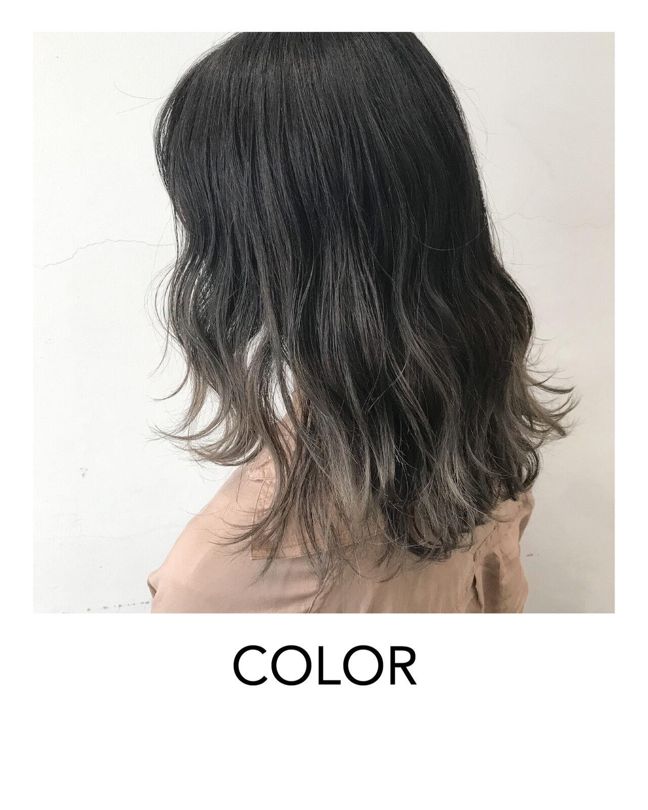 ブリーチオンカラー グラデーションカラー グラデーション ヘアアレンジヘアスタイルや髪型の写真・画像