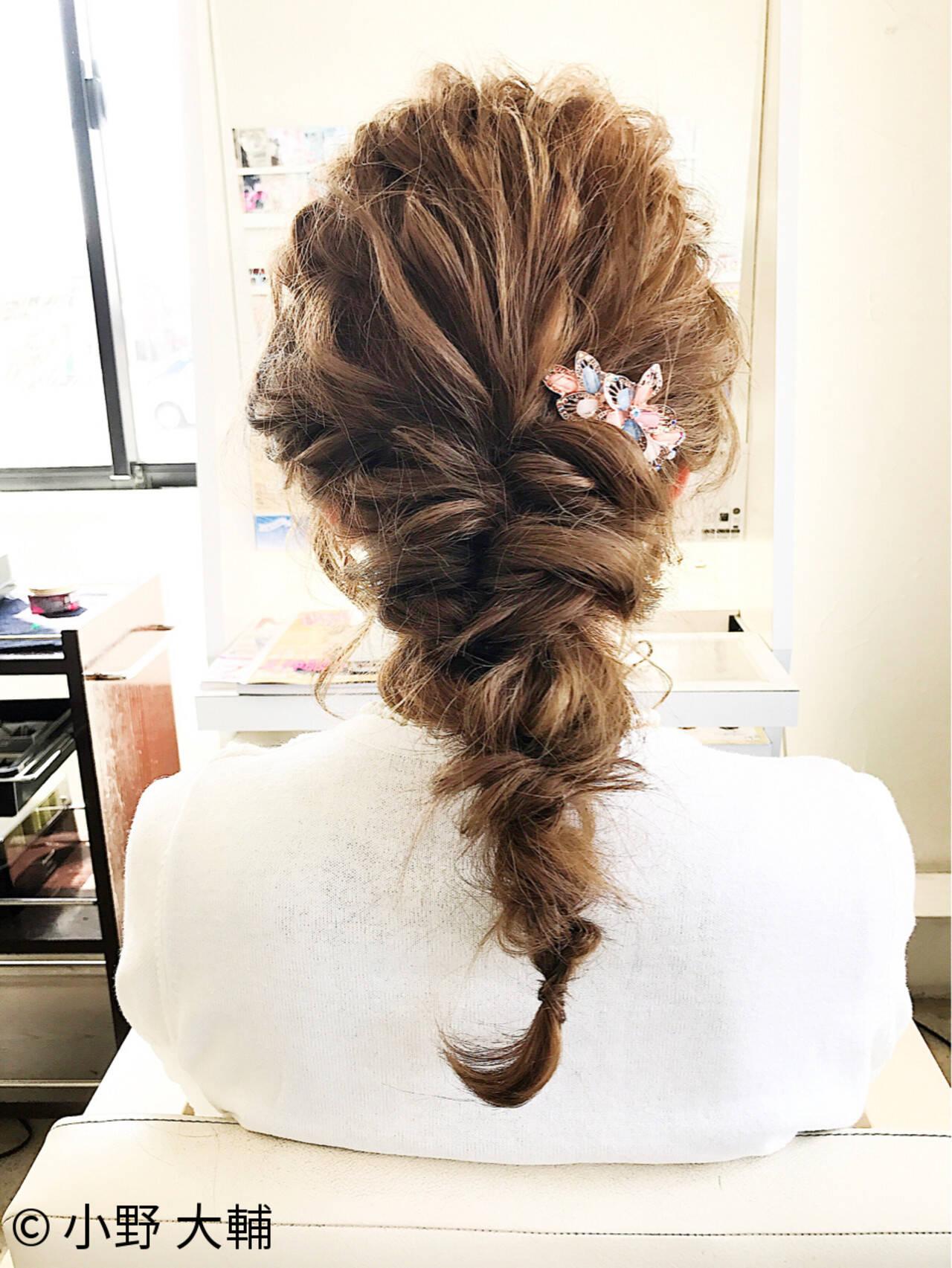 編み込み ロング パーティ ヘアアレンジヘアスタイルや髪型の写真・画像