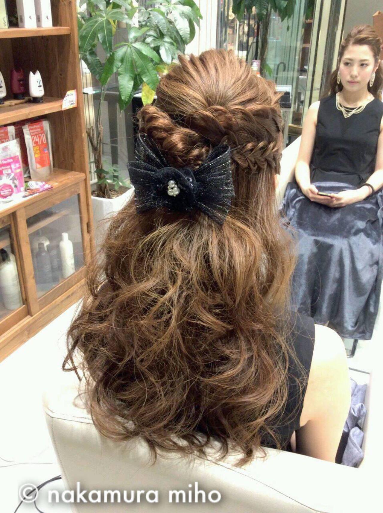 ヘアアレンジ コンサバ ハーフアップ モテ髪ヘアスタイルや髪型の写真・画像