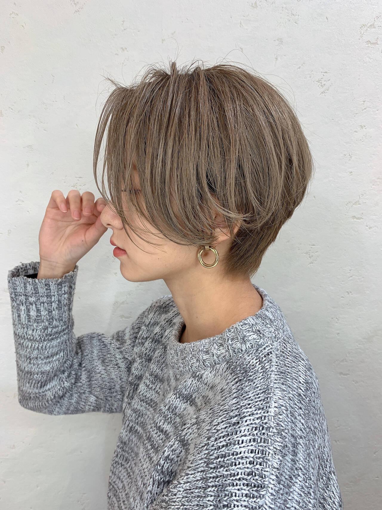 ショートヘア ナチュラル ふんわり ショートヘアスタイルや髪型の写真・画像