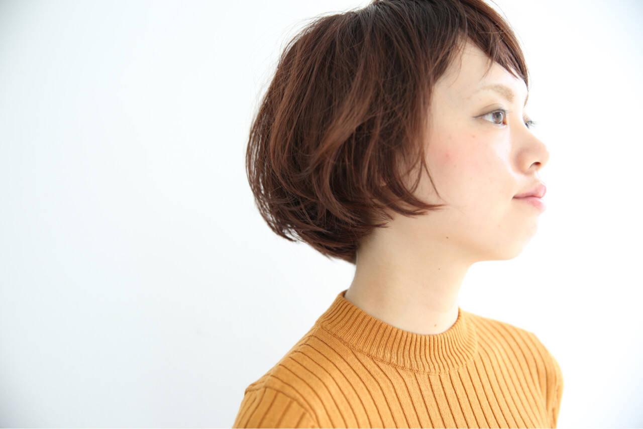 ナチュラル 似合わせ ショート モードヘアスタイルや髪型の写真・画像