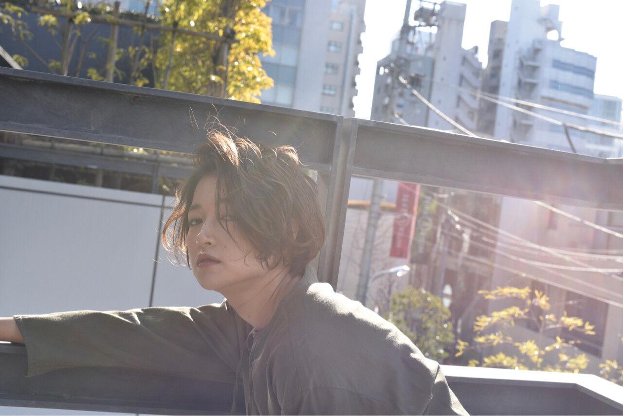 外国人風 ゆるふわ 大人かわいい ショートヘアスタイルや髪型の写真・画像