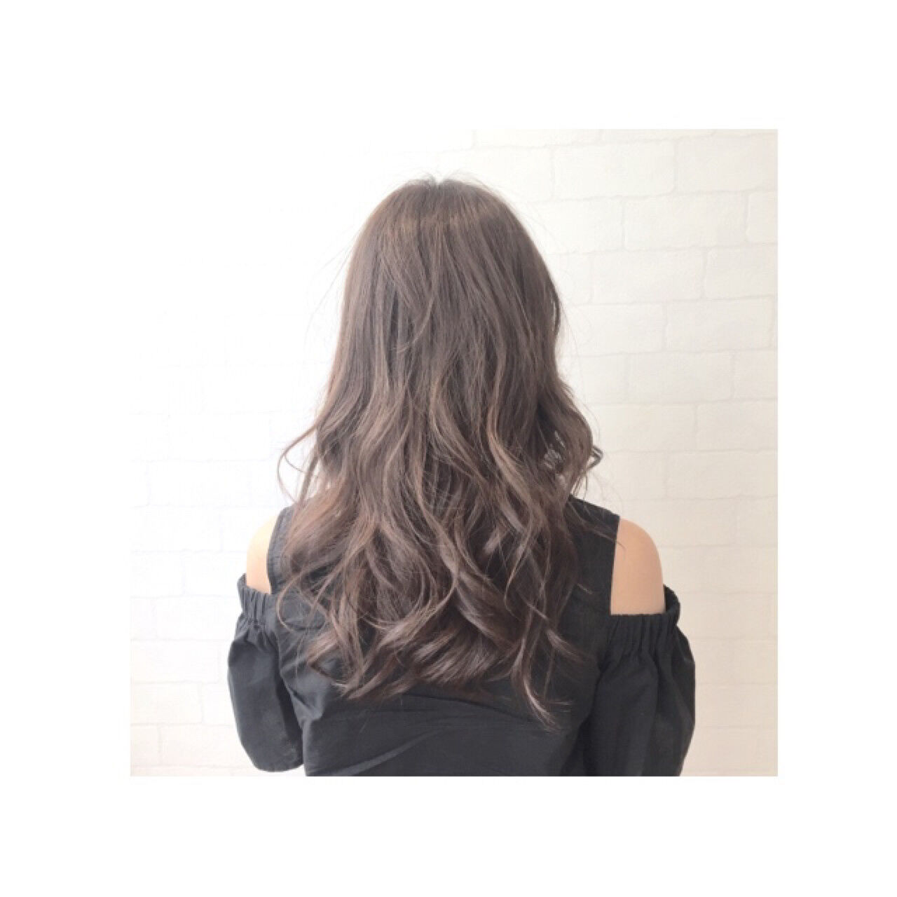 大人かわいい セミロング グラデーションカラー ナチュラルヘアスタイルや髪型の写真・画像