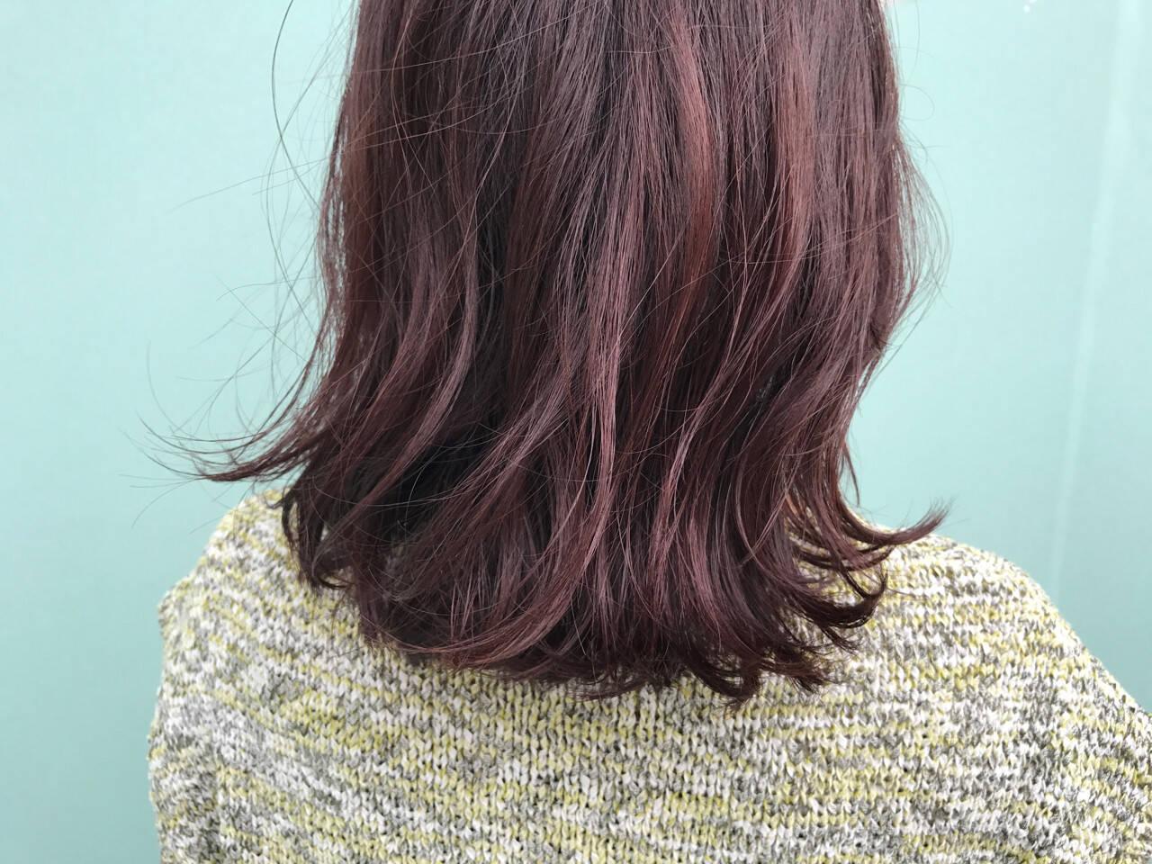 ミディアム ストリート ピンク ピンクアッシュヘアスタイルや髪型の写真・画像