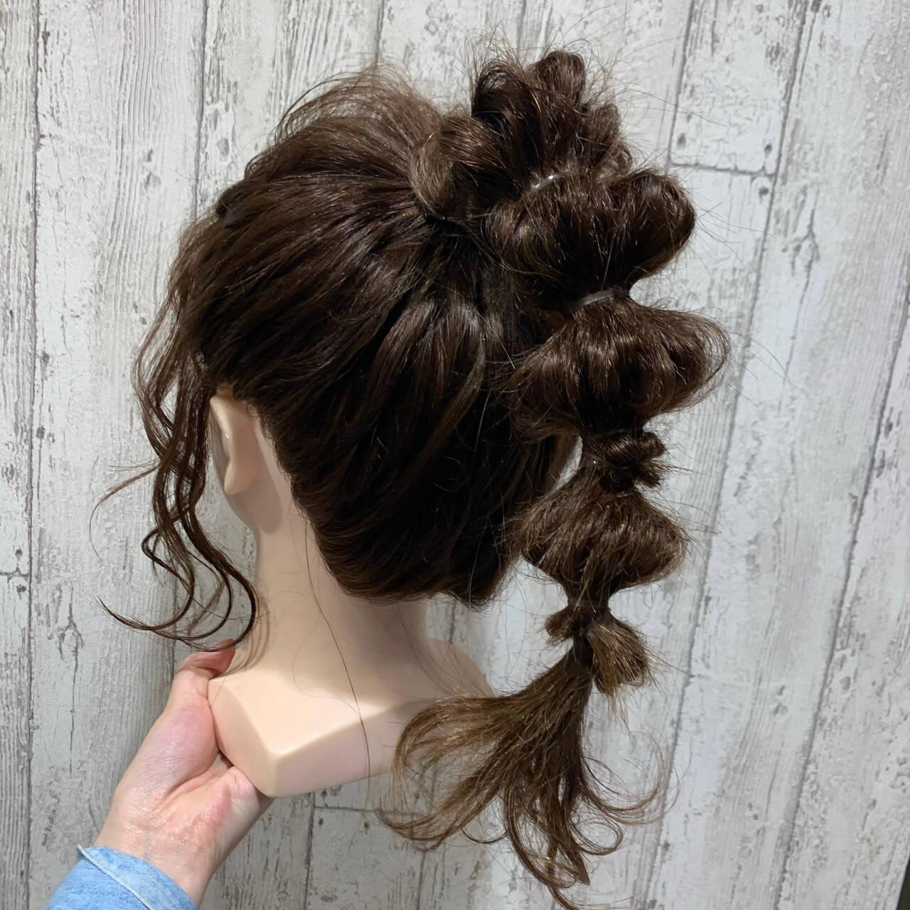 ポニーテールアレンジ 簡単ヘアアレンジ ポニーテール ヘアアレンジヘアスタイルや髪型の写真・画像