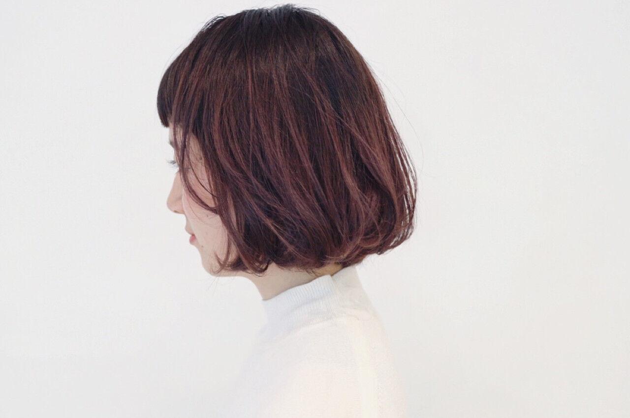 ストリート 外国人風 ボブ レッドヘアスタイルや髪型の写真・画像