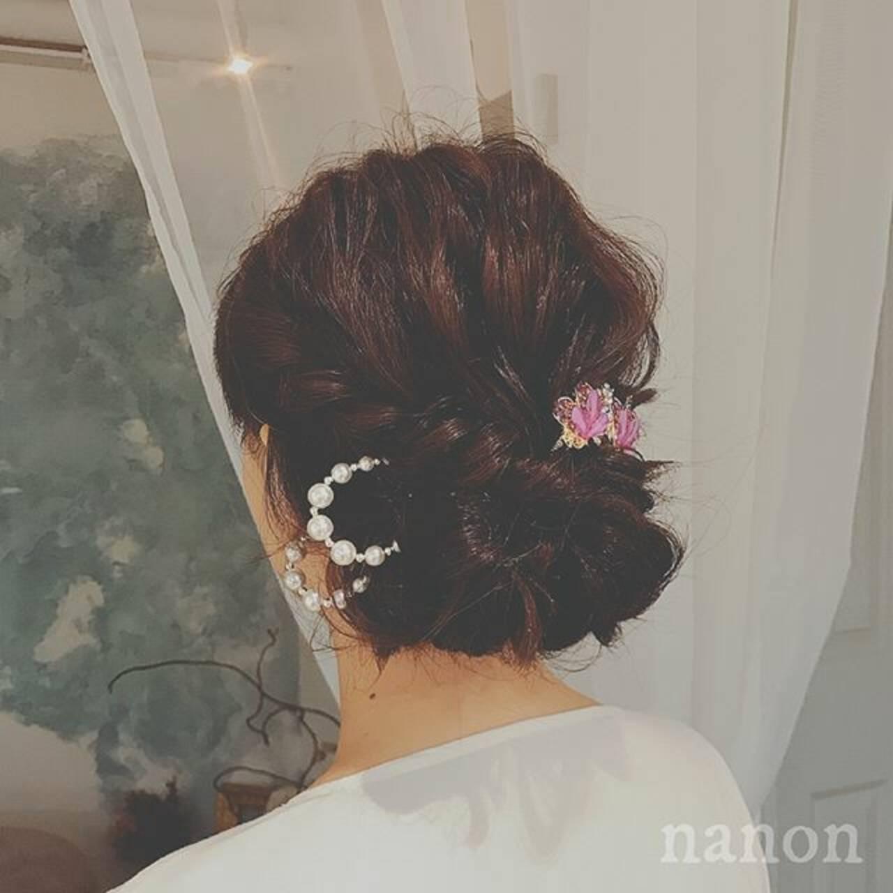 エレガント 大人かわいい ロング ヘアアレンジヘアスタイルや髪型の写真・画像
