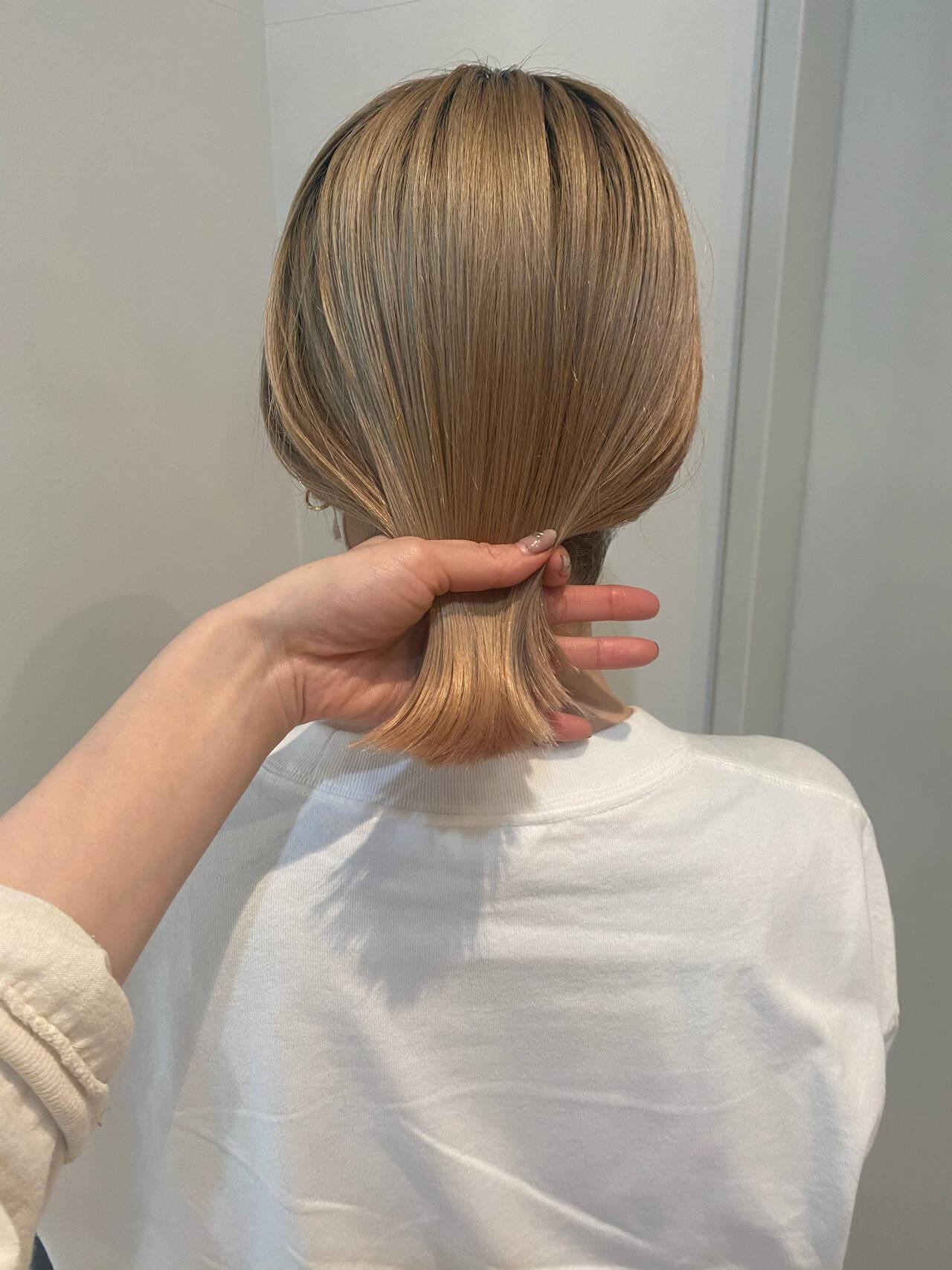 アウトドア アンニュイほつれヘア ボブ スポーツヘアスタイルや髪型の写真・画像