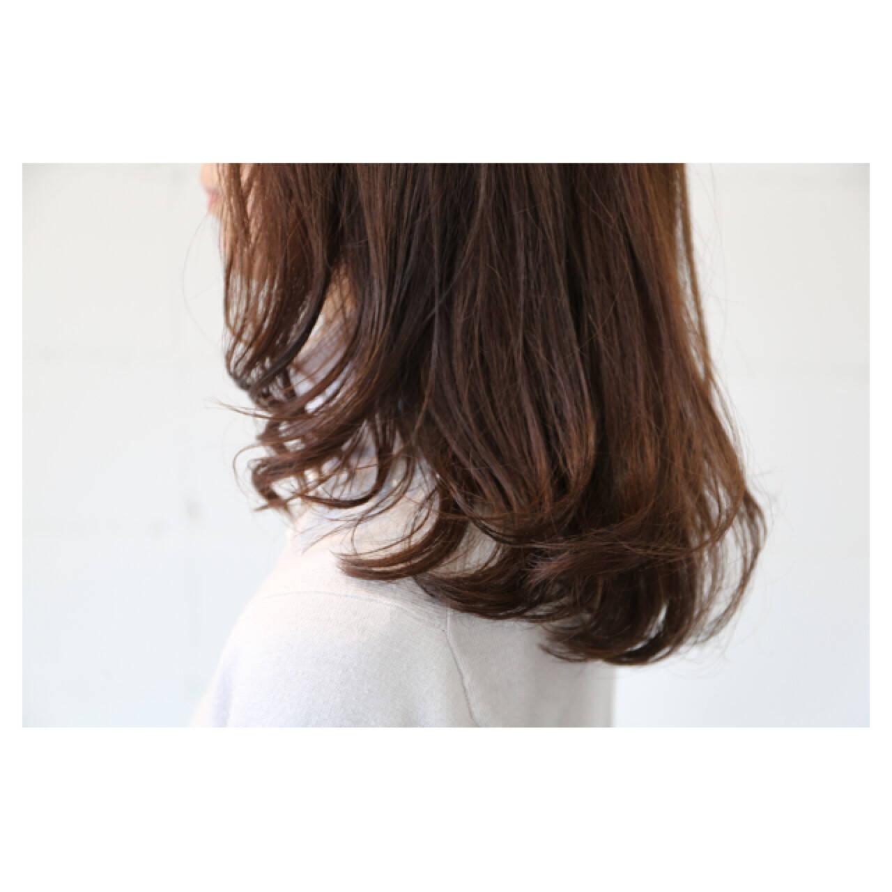 大人女子 大人かわいい イルミナカラー 抜け感ヘアスタイルや髪型の写真・画像