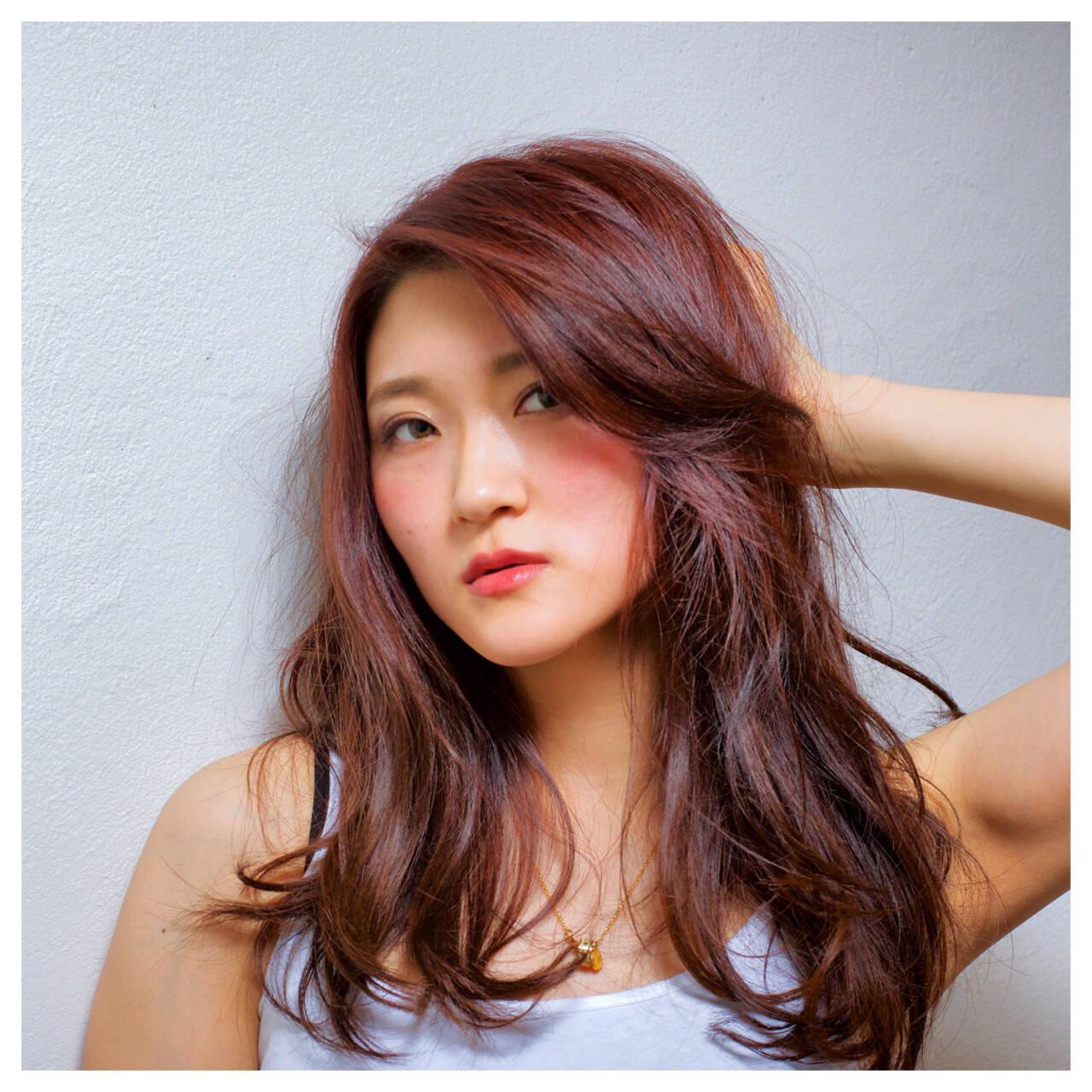パーマ ハイライト ストリート 外国人風ヘアスタイルや髪型の写真・画像