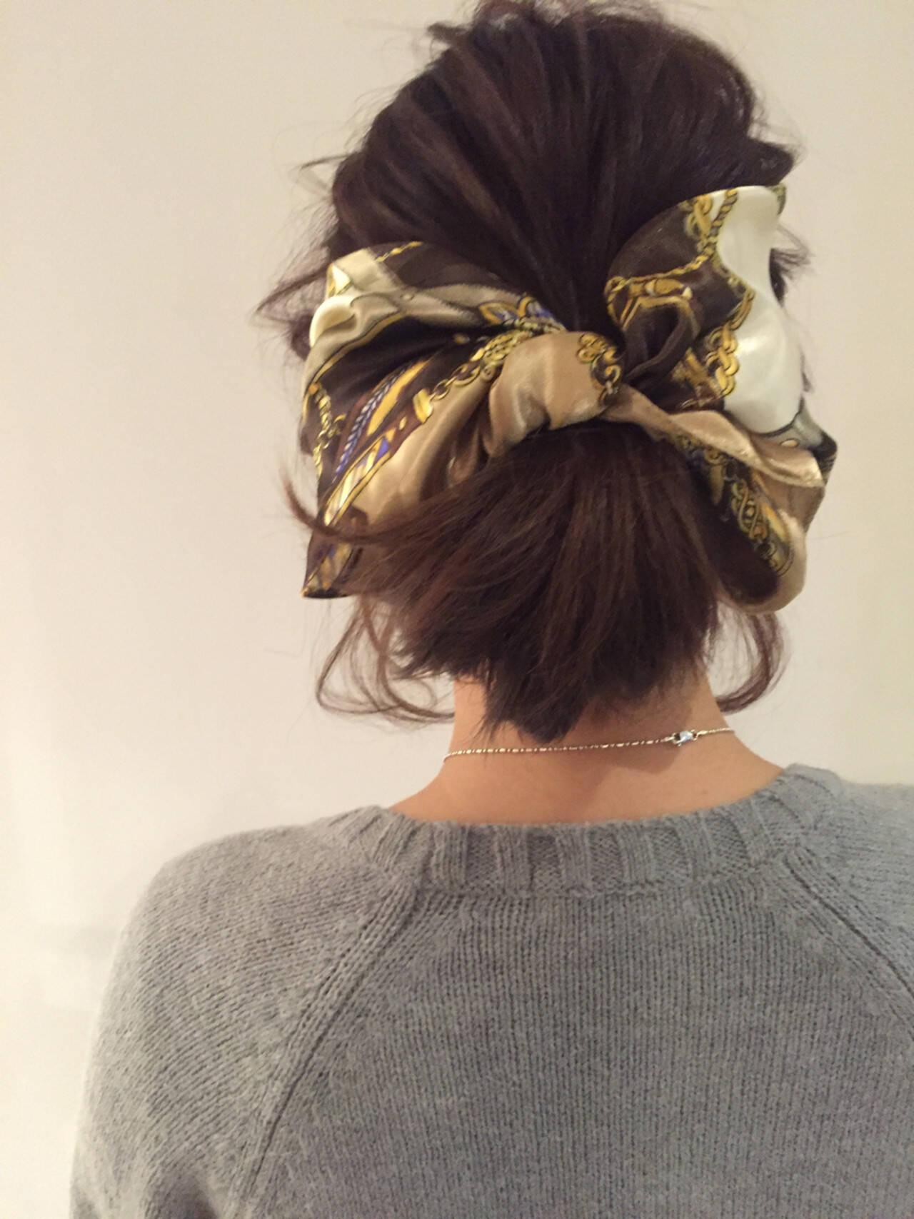 ヘアアレンジ 時短 ショート 簡単ヘアアレンジヘアスタイルや髪型の写真・画像