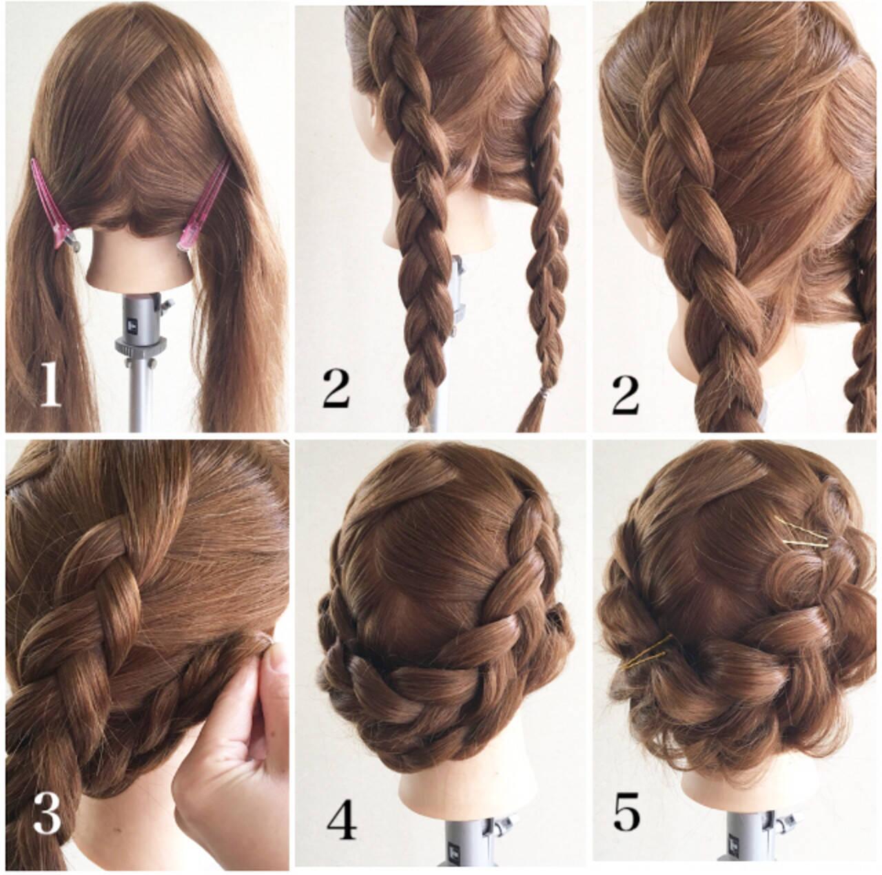 デート ヘアアレンジ アンニュイほつれヘア 裏編み込みヘアスタイルや髪型の写真・画像