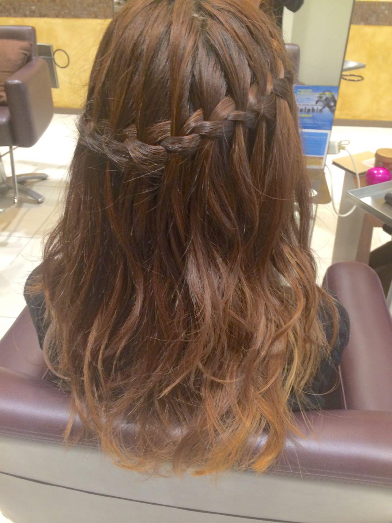 ヘアアレンジ 夏 涼しげヘアスタイルや髪型の写真・画像