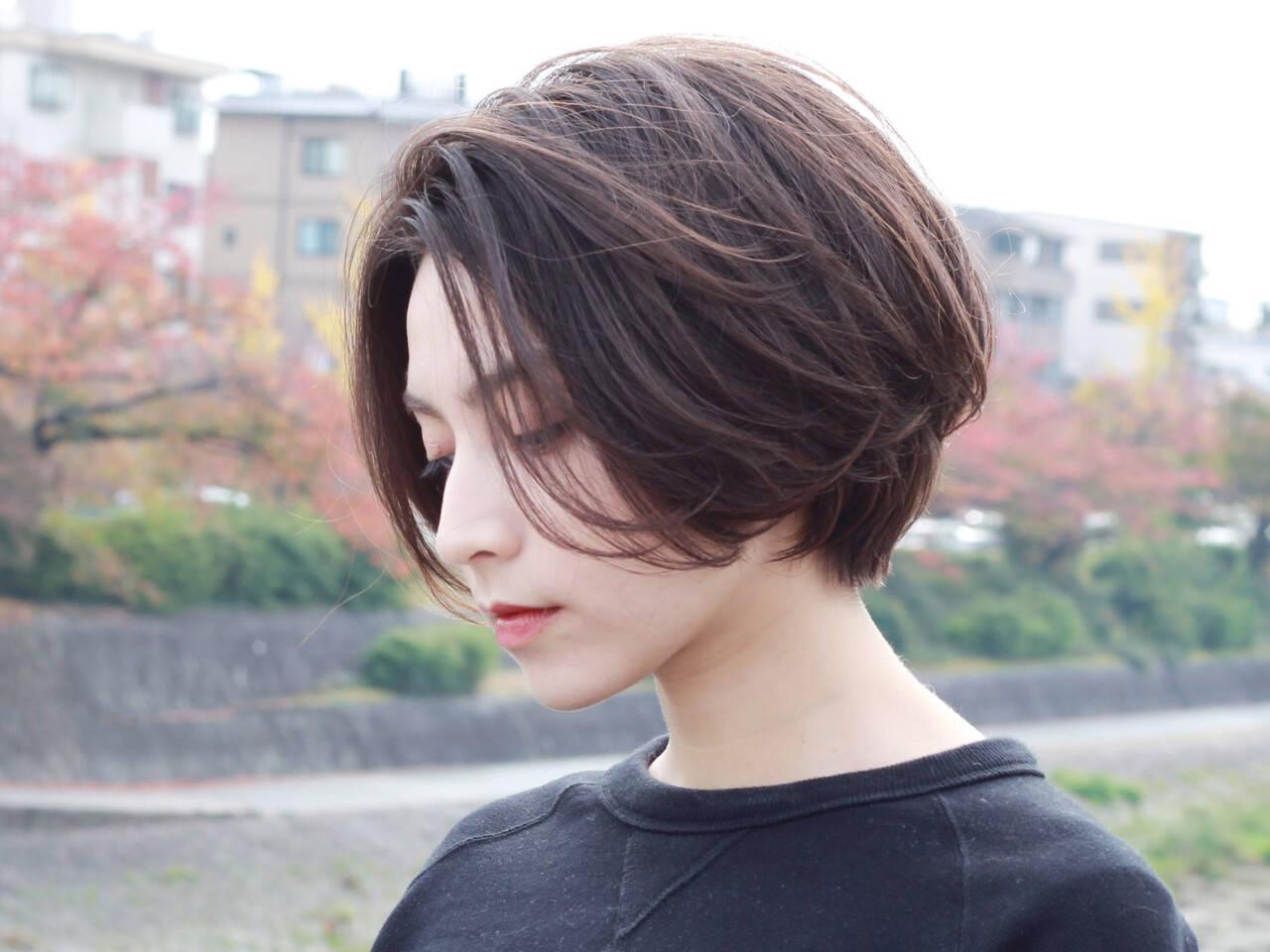 アッシュグレージュ ナチュラル グレージュ ボブヘアスタイルや髪型の写真・画像