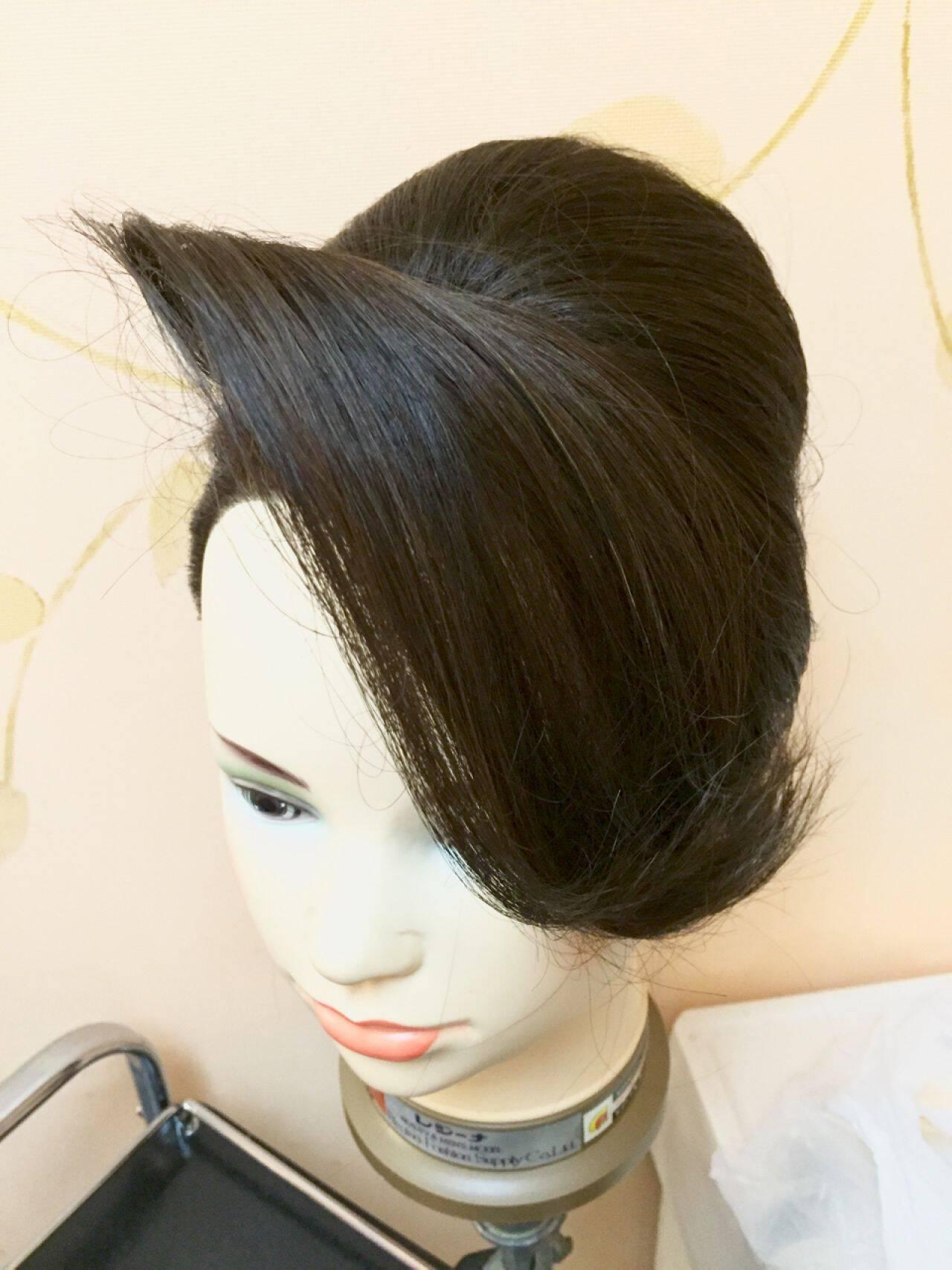 和装 夜会巻 着物 ヘアアレンジヘアスタイルや髪型の写真・画像