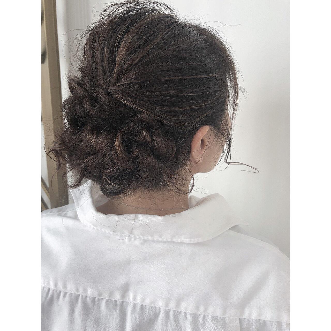 簡単ヘアアレンジ 結婚式 成人式 ヘアアレンジヘアスタイルや髪型の写真・画像