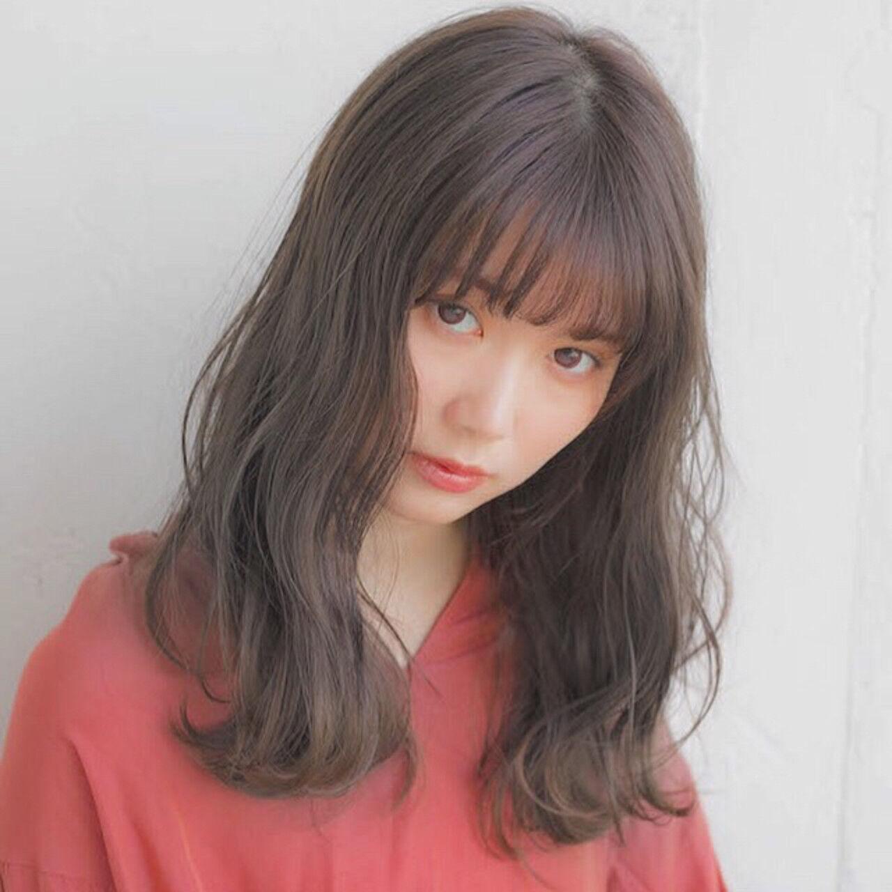 アンニュイほつれヘア パーマ 大人かわいい セミロングヘアスタイルや髪型の写真・画像