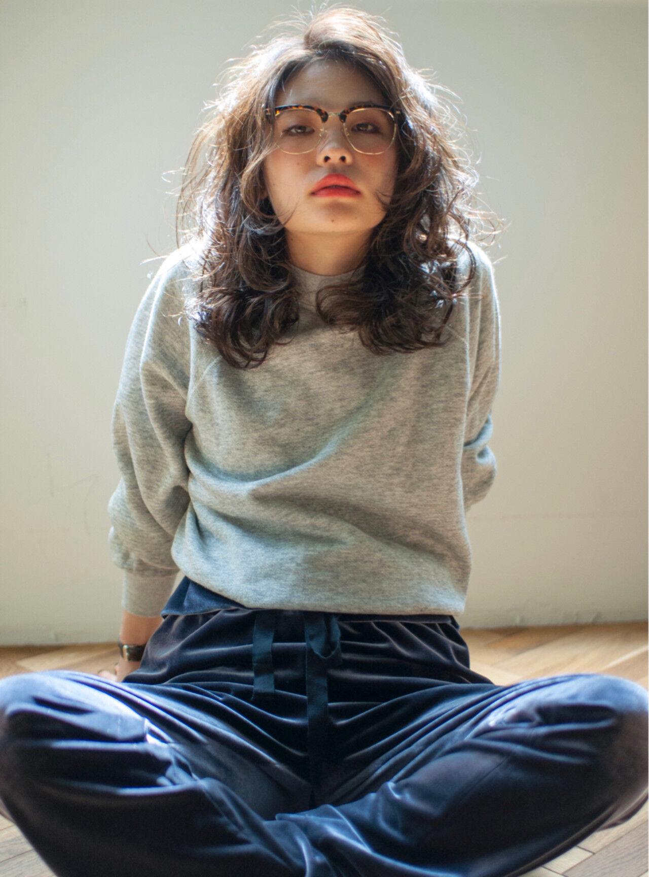 デジタルパーマ 外国人風 パーマ ウェーブヘアスタイルや髪型の写真・画像