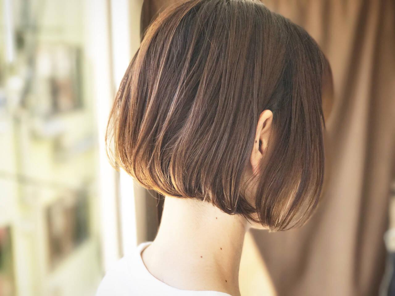 ハイライト ワンレングス 外国人風 透明感ヘアスタイルや髪型の写真・画像