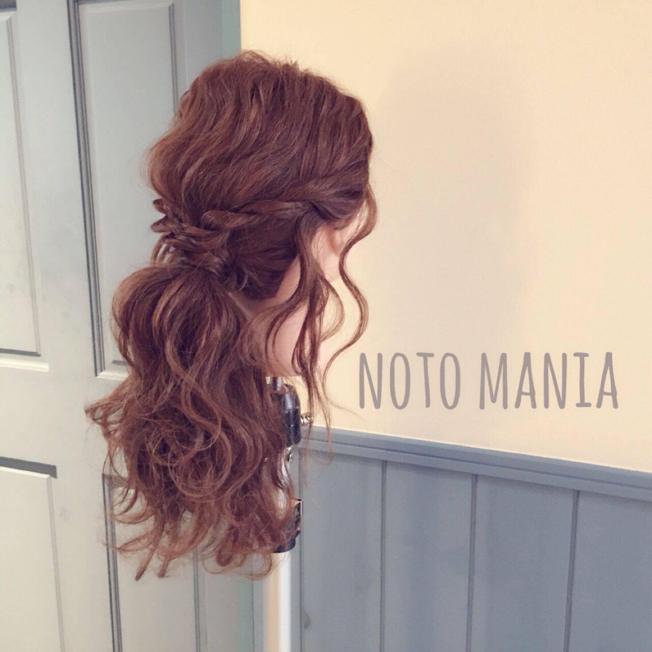 コンサバ ヘアアレンジ モテ髪 春ヘアスタイルや髪型の写真・画像
