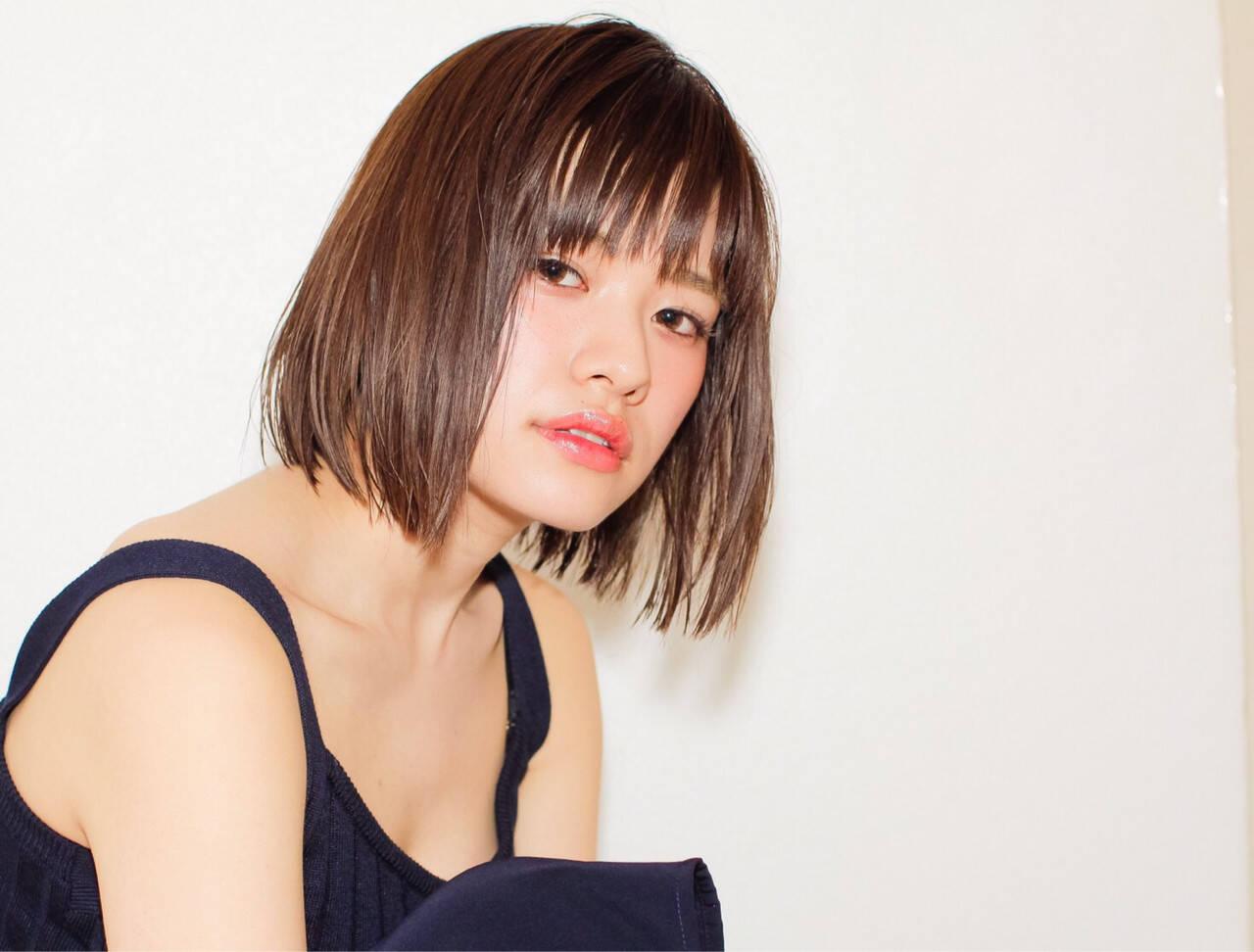 ストリート ピュア フェミニン ボブヘアスタイルや髪型の写真・画像