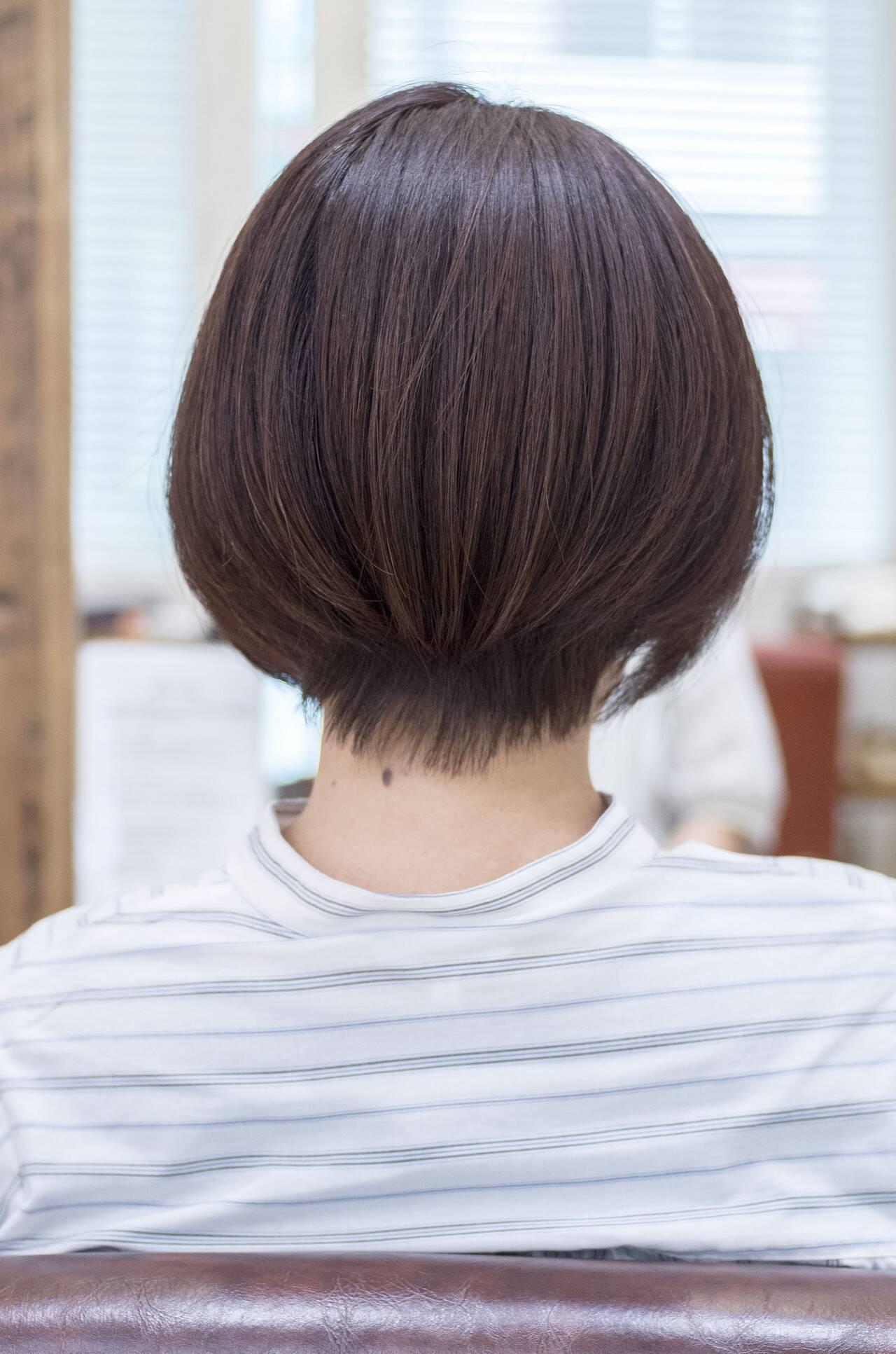 ショートボブ ショートカット マッシュショート フェミニンヘアスタイルや髪型の写真・画像