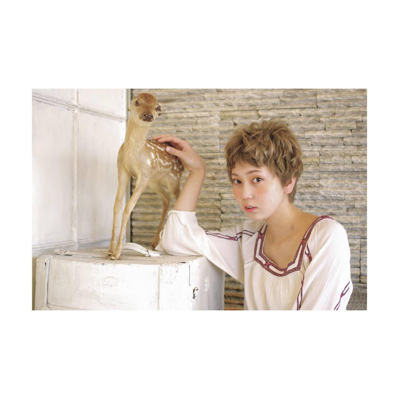 ブラウン 外国人風 ストリート 春ヘアスタイルや髪型の写真・画像