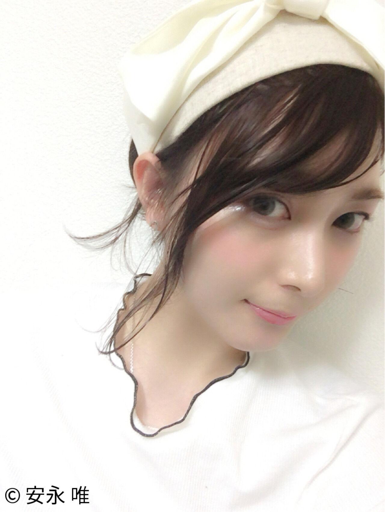 フェミニン ヘアアレンジ ヘアアクセ 簡単ヘアアレンジヘアスタイルや髪型の写真・画像