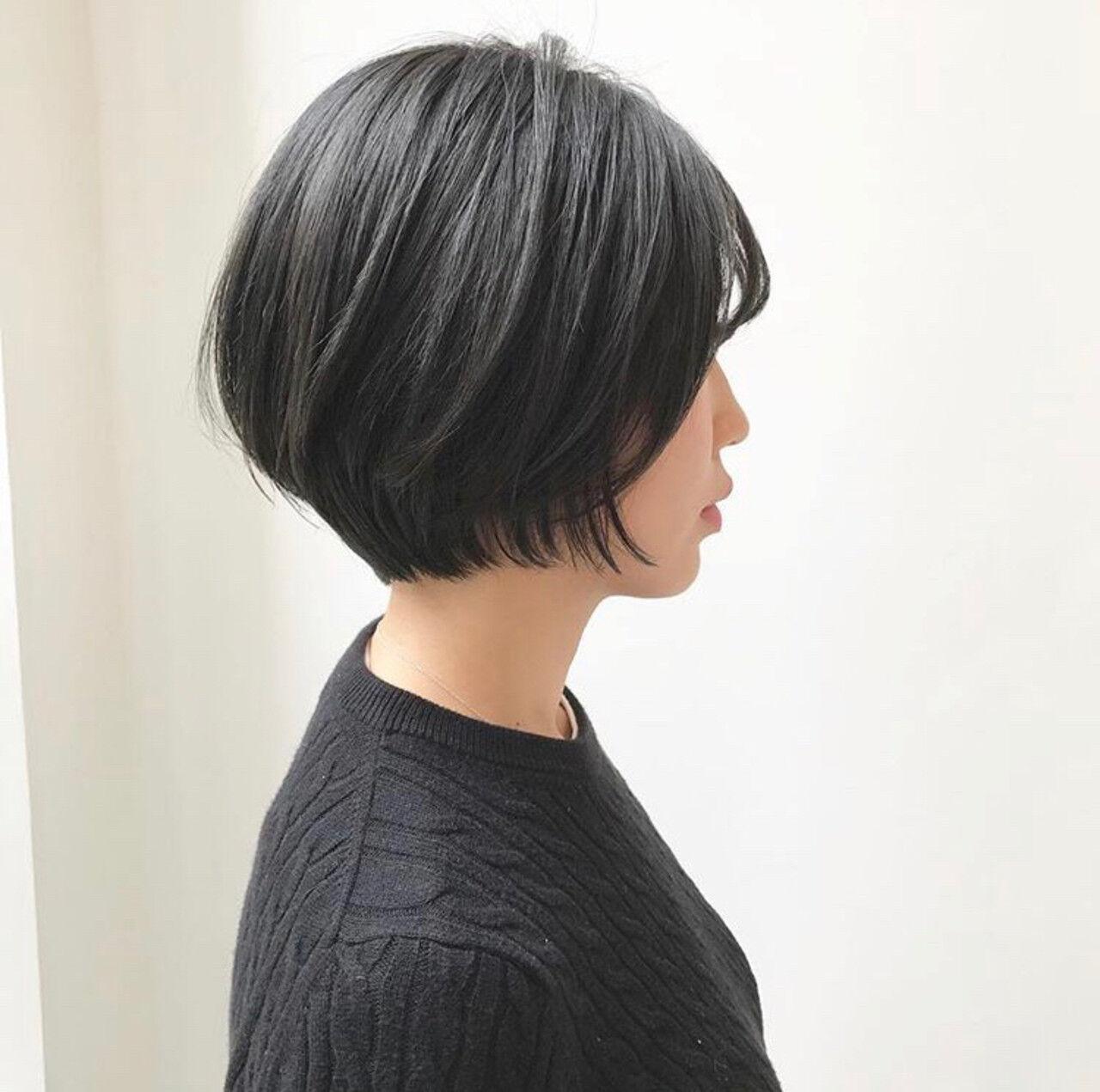 マッシュショート ショート ハンサムショート ショートボブヘアスタイルや髪型の写真・画像
