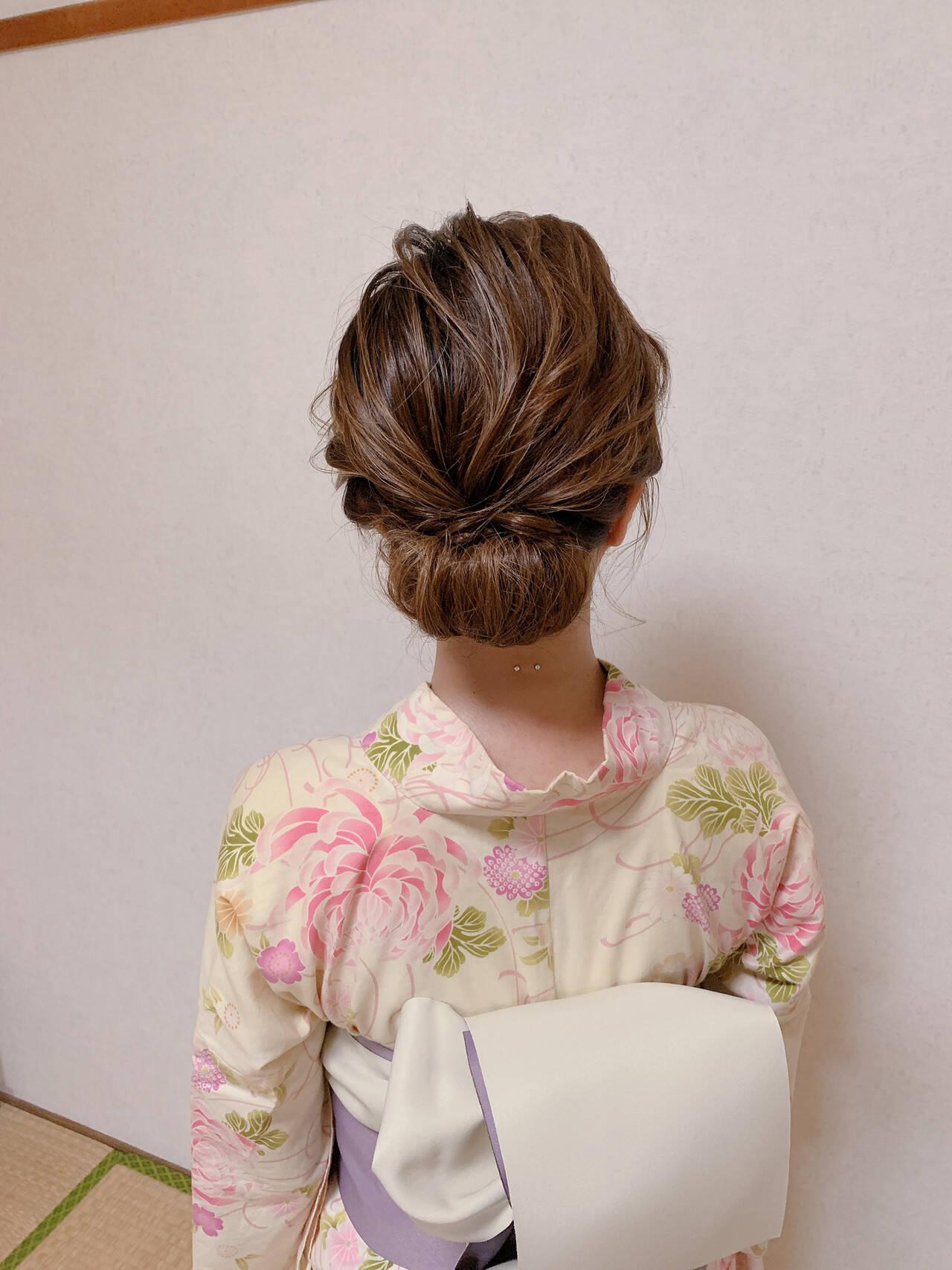 エレガント 浴衣アレンジ 浴衣ヘア ヘアアレンジヘアスタイルや髪型の写真・画像
