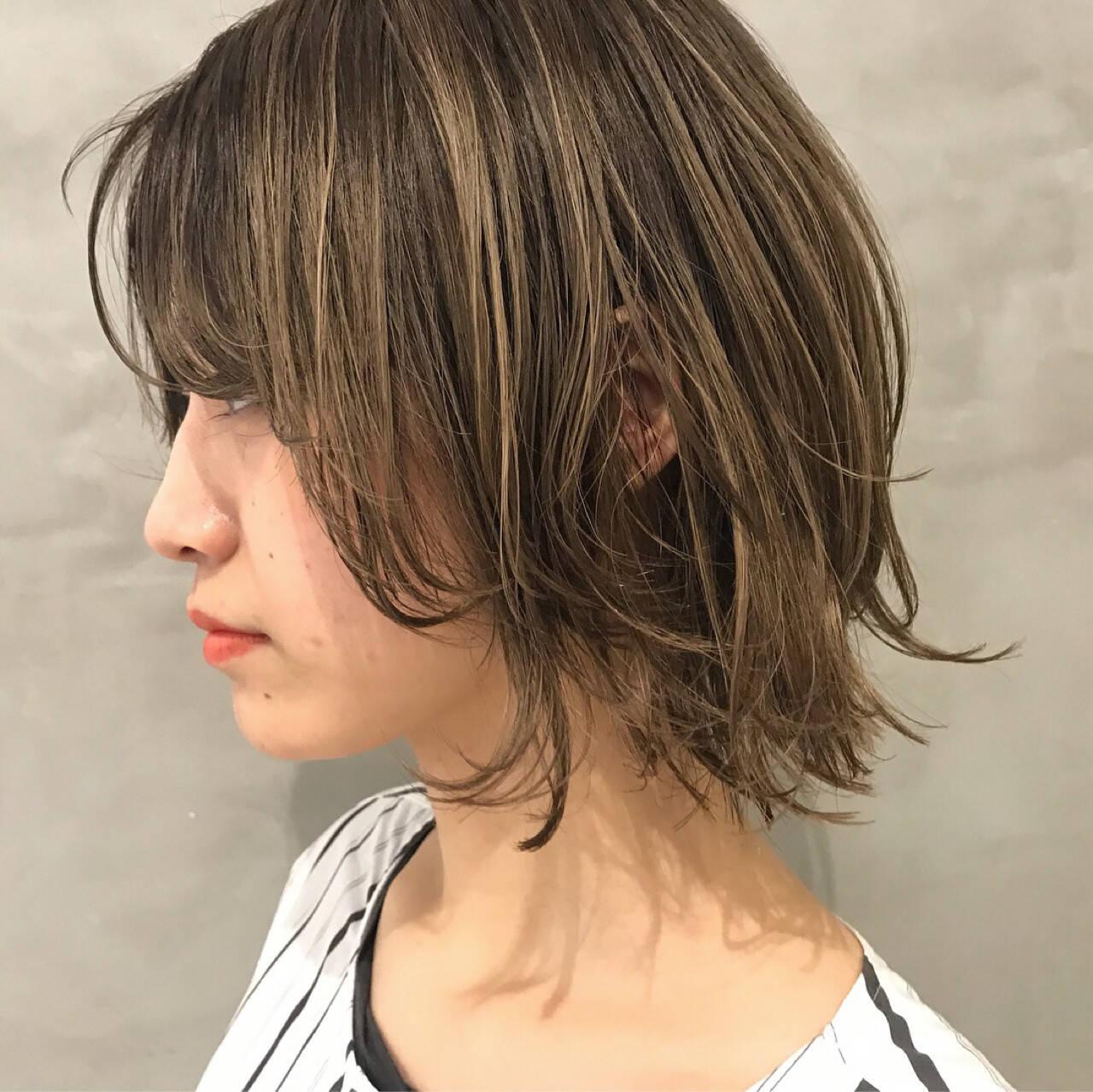 色気 外ハネ ショート 女子力ヘアスタイルや髪型の写真・画像