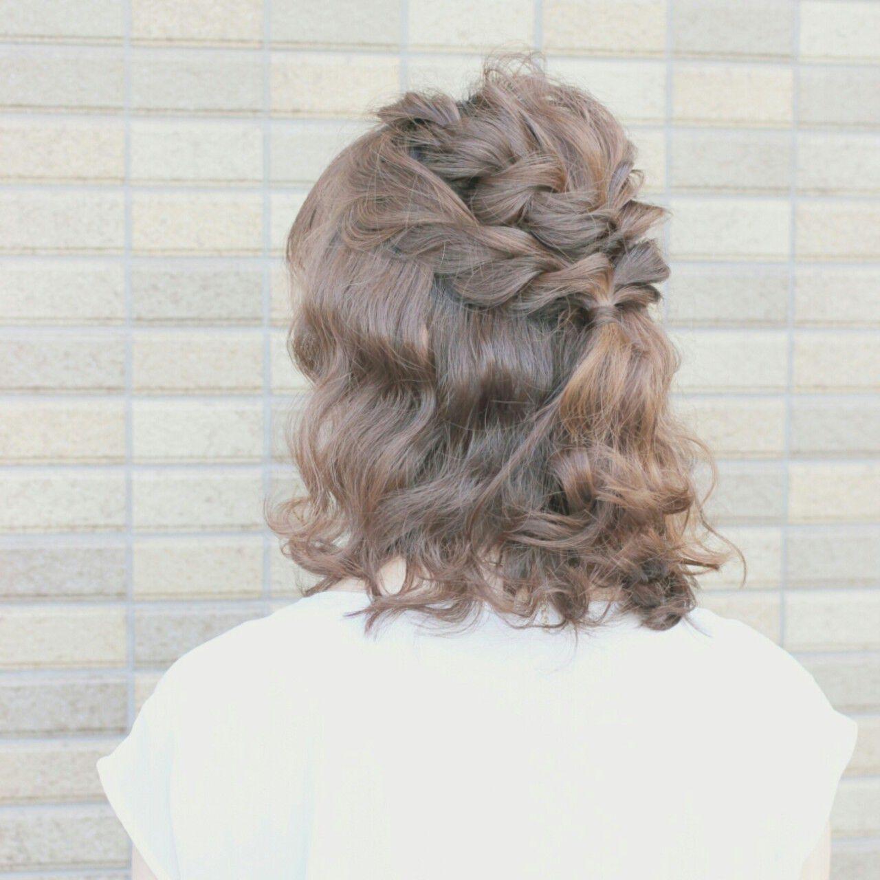 ショート ヘアアレンジ ミディアム 大人かわいいヘアスタイルや髪型の写真・画像