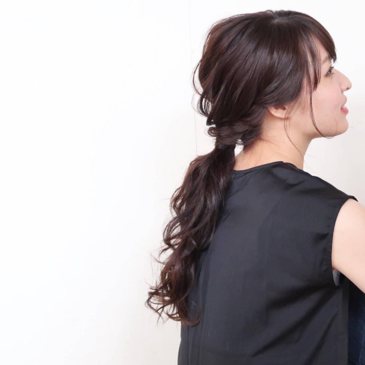 ロング 結婚式 ヘアアレンジ ナチュラルヘアスタイルや髪型の写真・画像