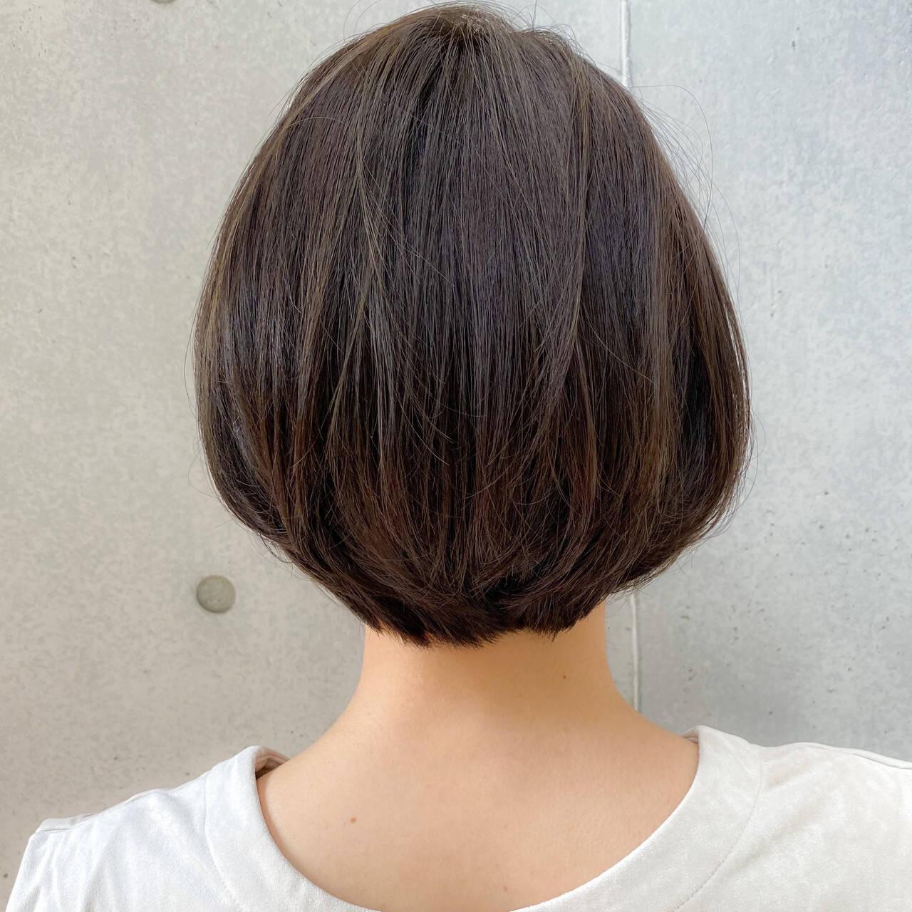 簡単スタイリング ハンサムショート ボブ ナチュラルヘアスタイルや髪型の写真・画像