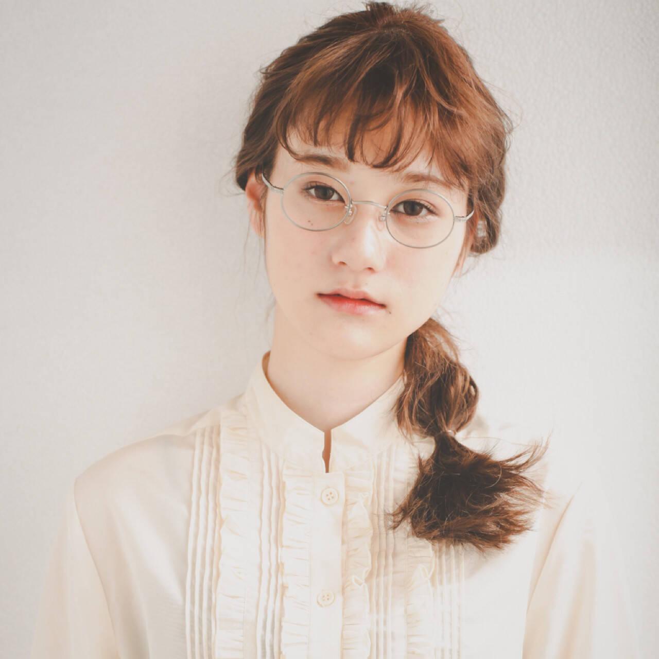 ショート ガーリー ヘアアレンジ デートヘアスタイルや髪型の写真・画像