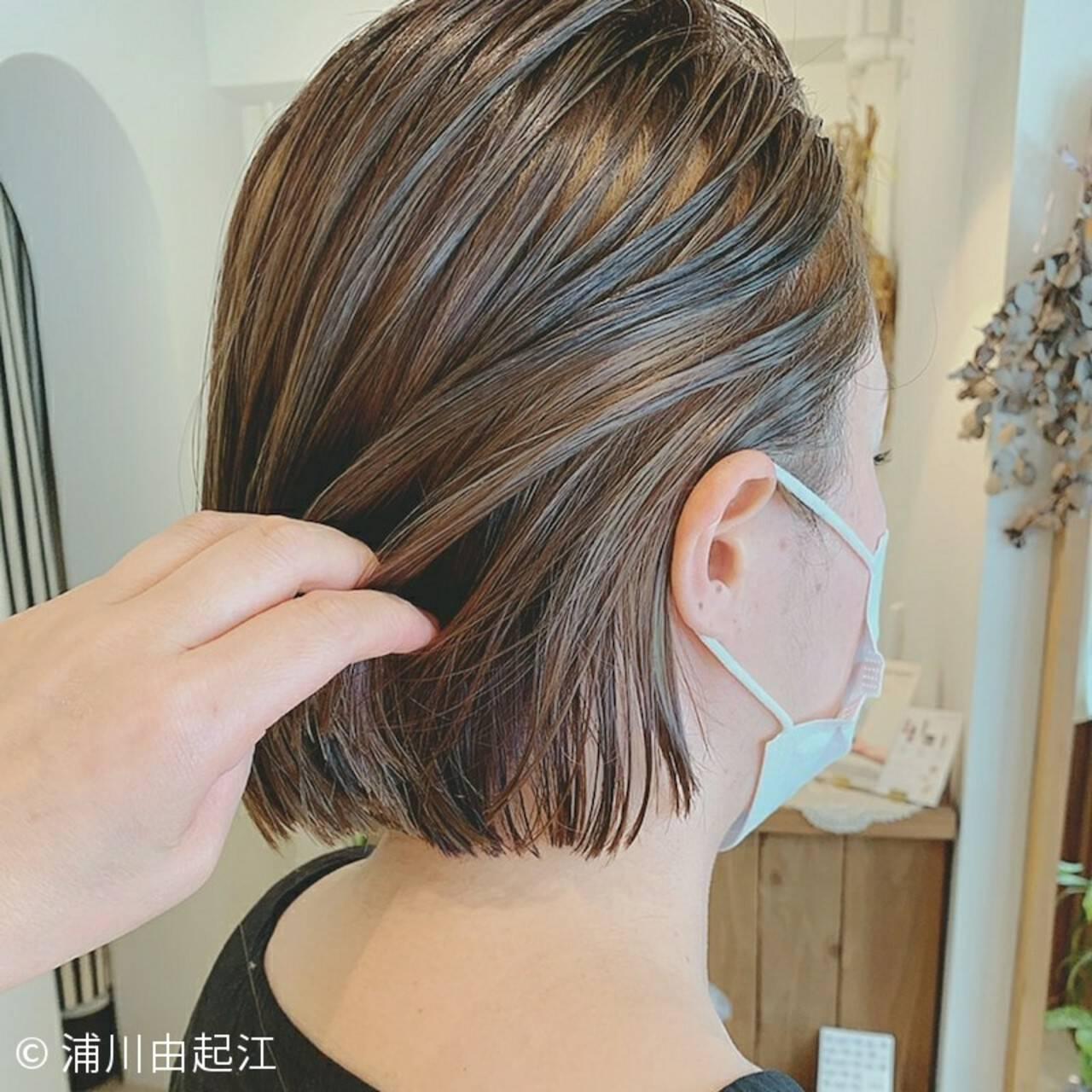 ボブ 夏 モード インナーカラーヘアスタイルや髪型の写真・画像