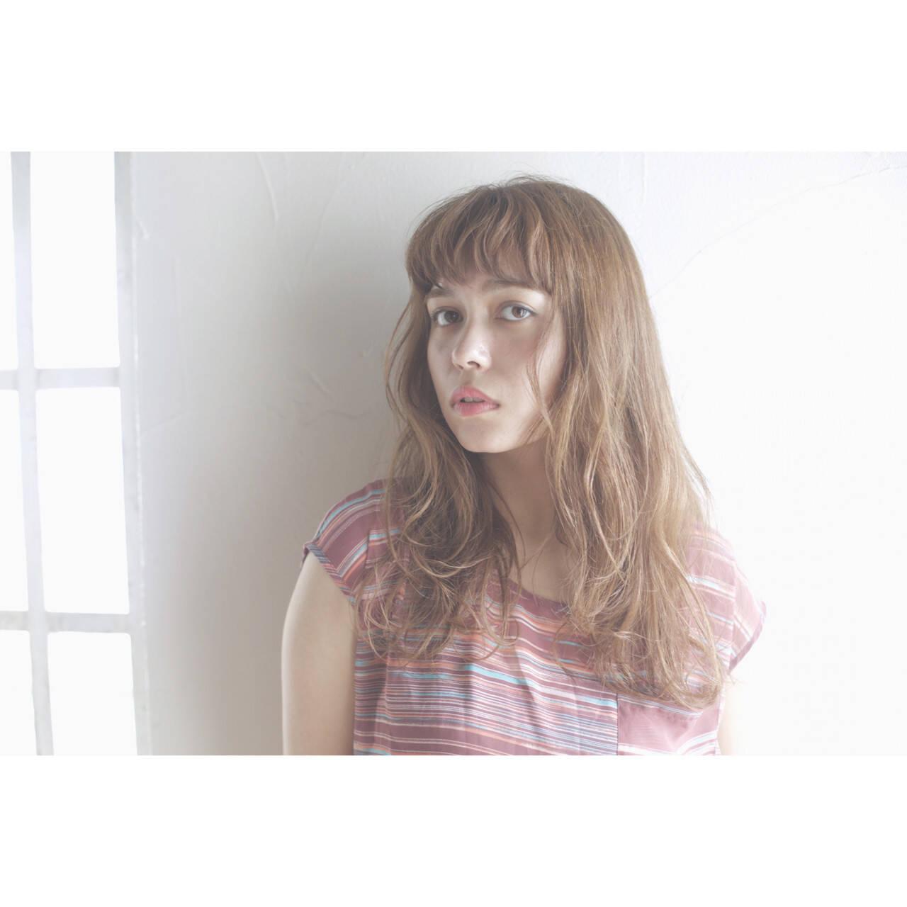 前髪あり ヘアアレンジ ナチュラル 夏ヘアスタイルや髪型の写真・画像