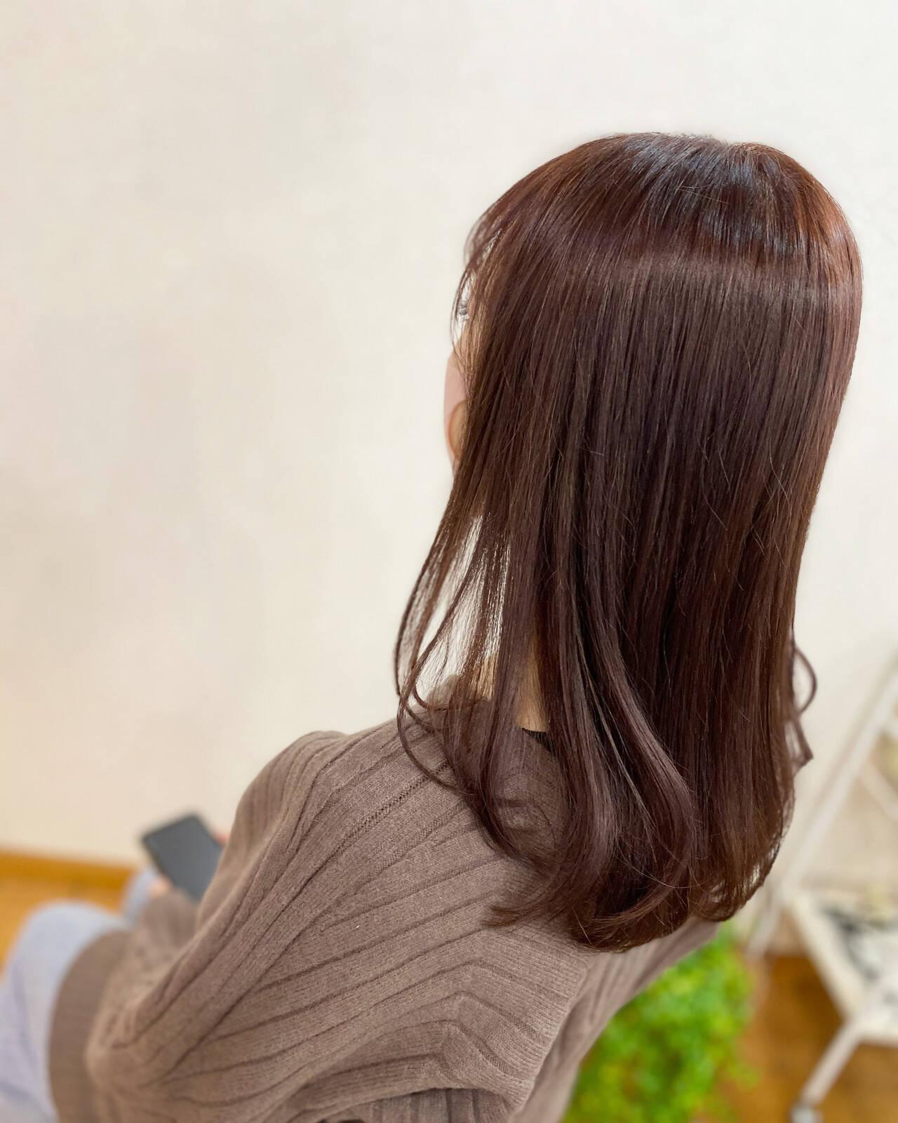 ガーリー ショコラブラウン チョコレート ブリーチカラーヘアスタイルや髪型の写真・画像