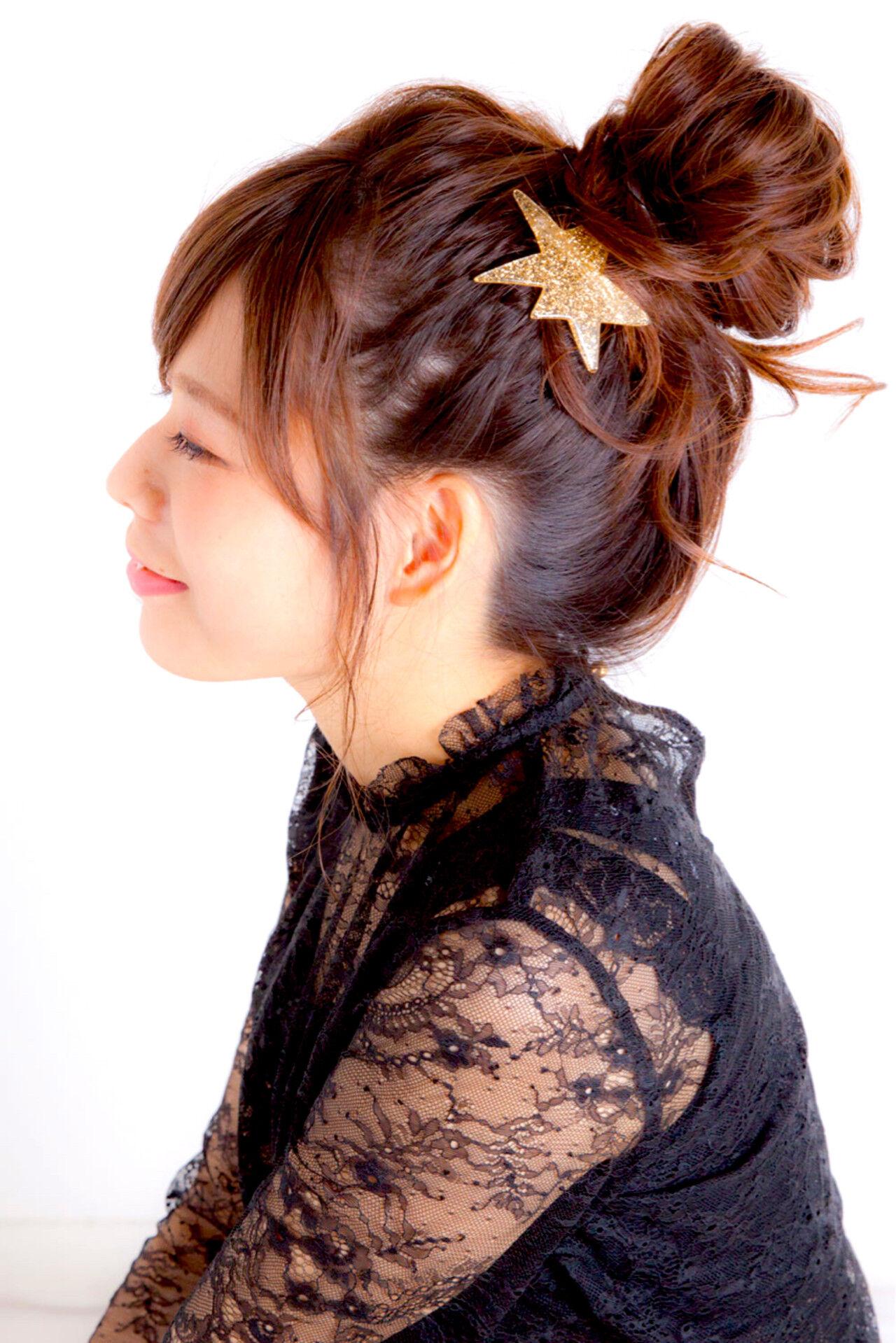ショート 簡単ヘアアレンジ ロング 大人かわいいヘアスタイルや髪型の写真・画像