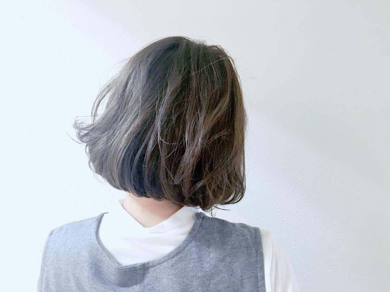 アッシュ 外国人風カラー ボブ 色気ヘアスタイルや髪型の写真・画像