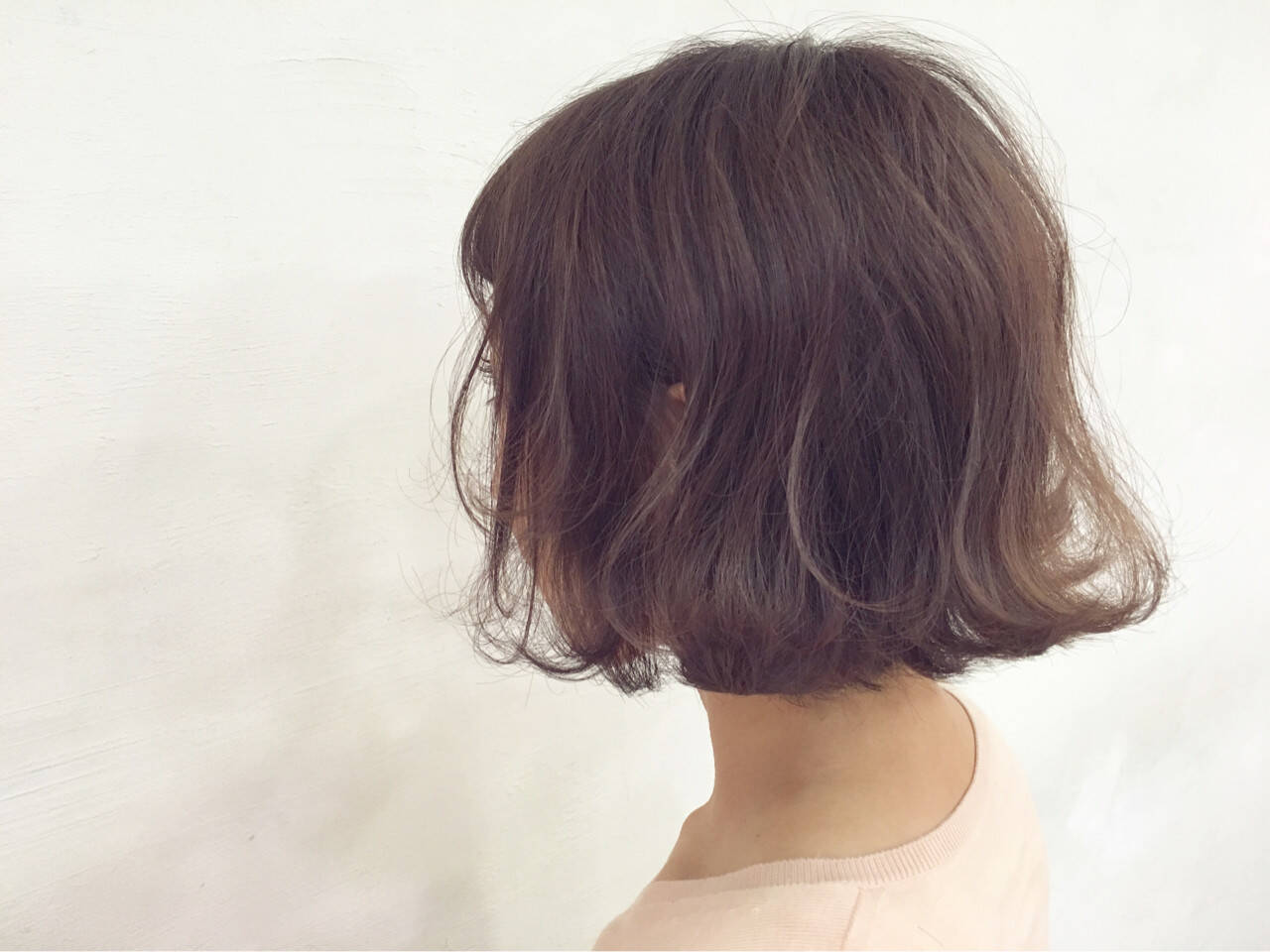 ボブ ナチュラル 色気 ピンクヘアスタイルや髪型の写真・画像