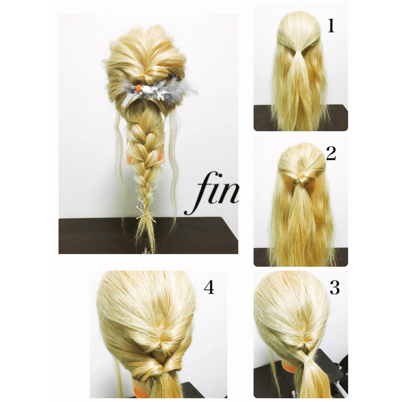 簡単ヘアアレンジ ヘアアレンジ ロング ハーフアップヘアスタイルや髪型の写真・画像