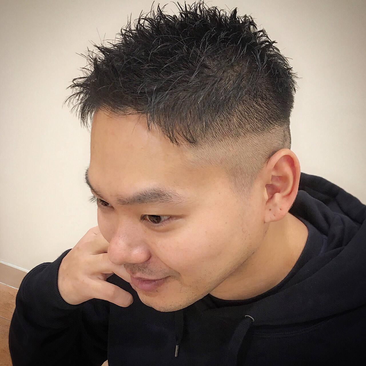 メンズカット 刈り上げ メンズショート ショートヘアスタイルや髪型の写真・画像